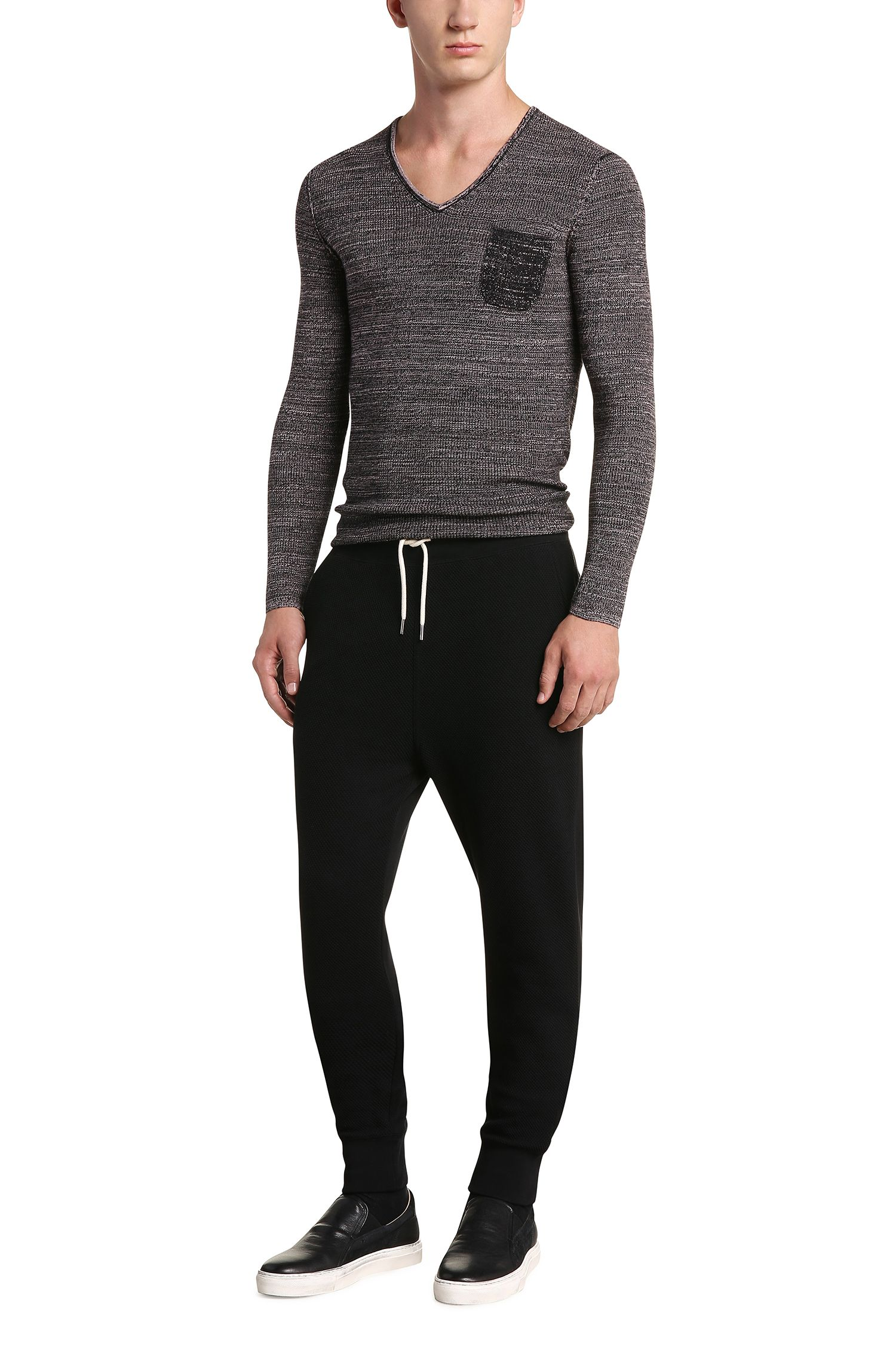 Regular-Fit Jogginghose aus strukturierter Baumwolle: ´Skills`