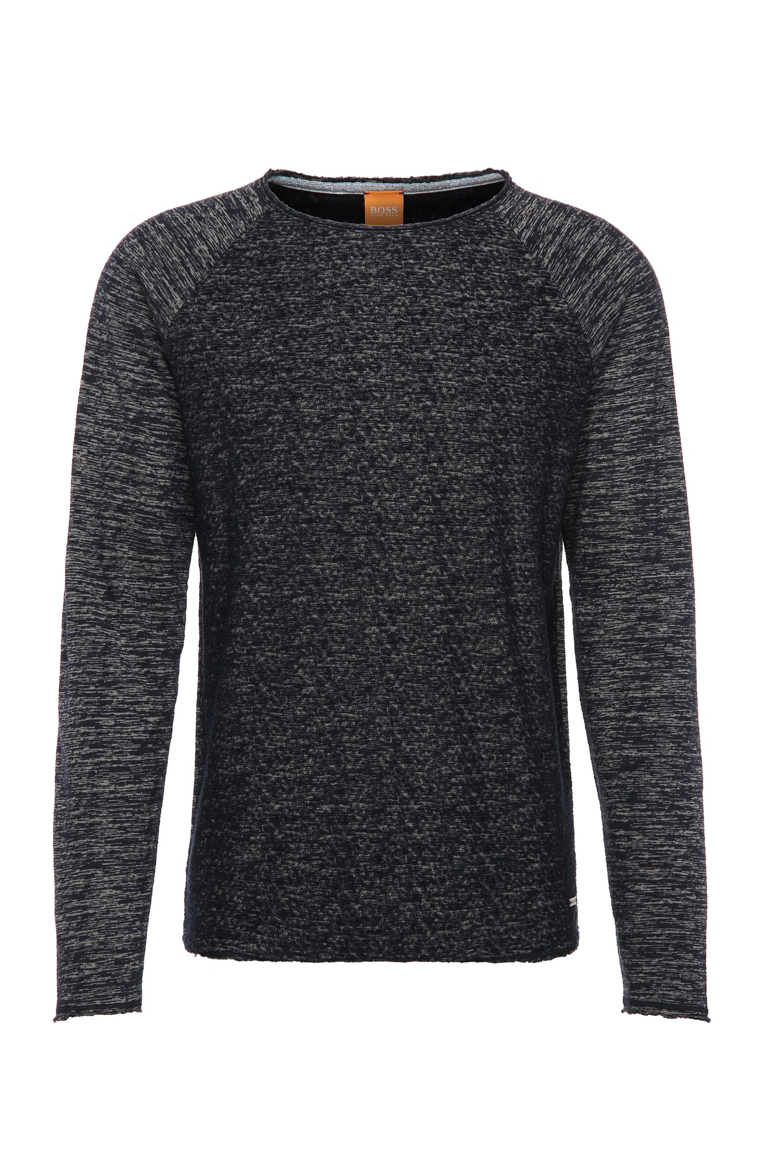 Relaxed-fit sweatshirt in cotton blend: 'Welles'