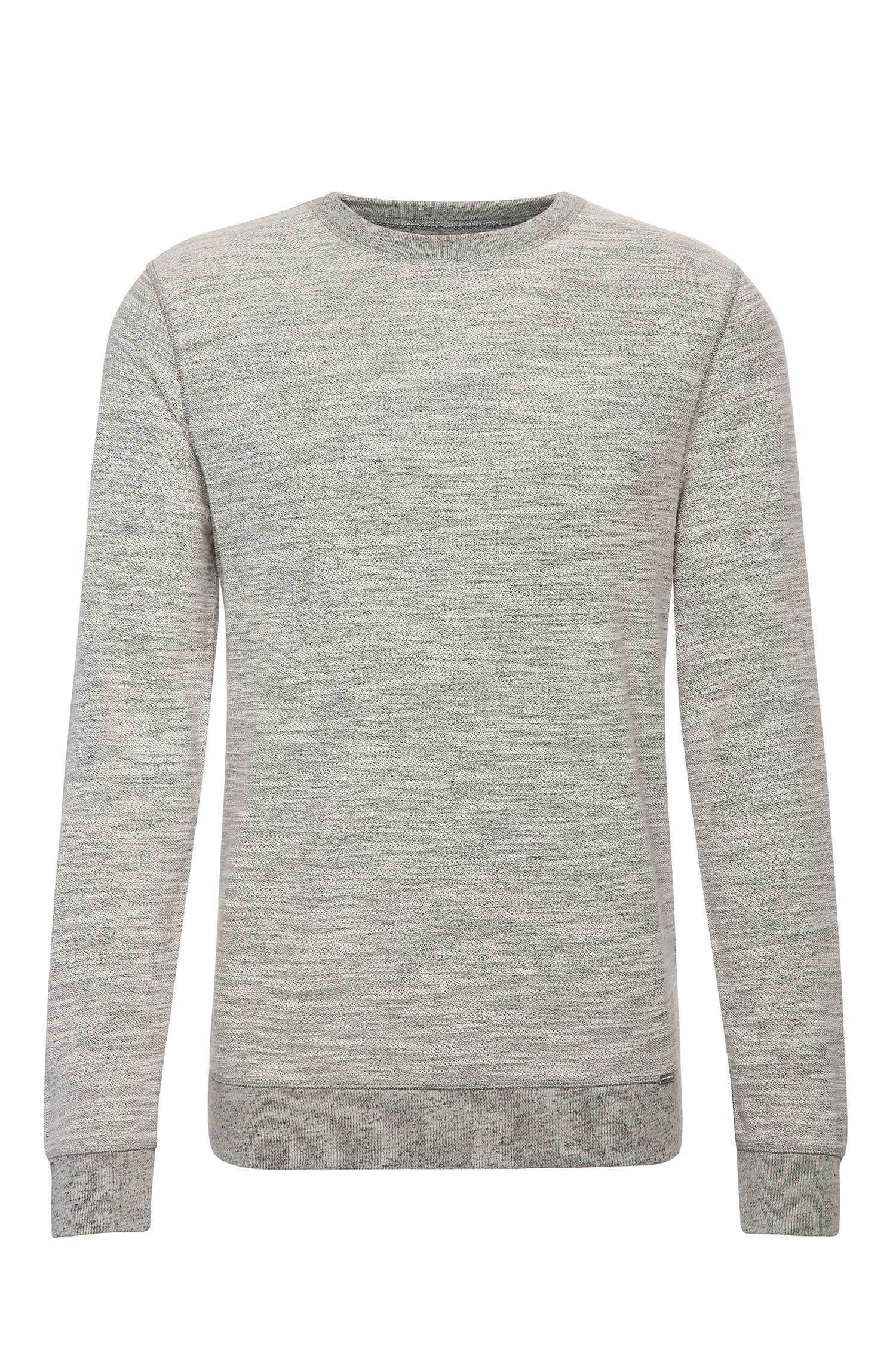 Relaxed-fit sweatshirt in cotton blend: 'Woice'