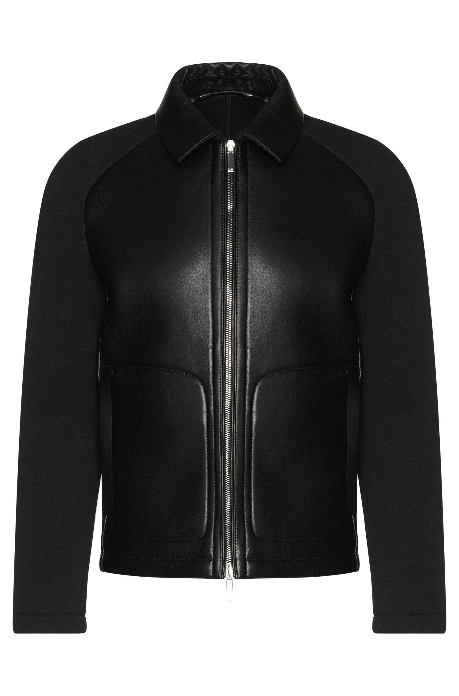 Blouson en cuir Tailored à manches raglan: «T-Corvis»