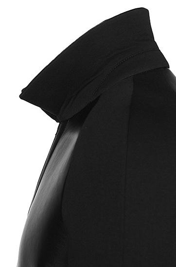 Tailored Lederjacke mit Raglanärmeln: 'T-Corvis', Schwarz