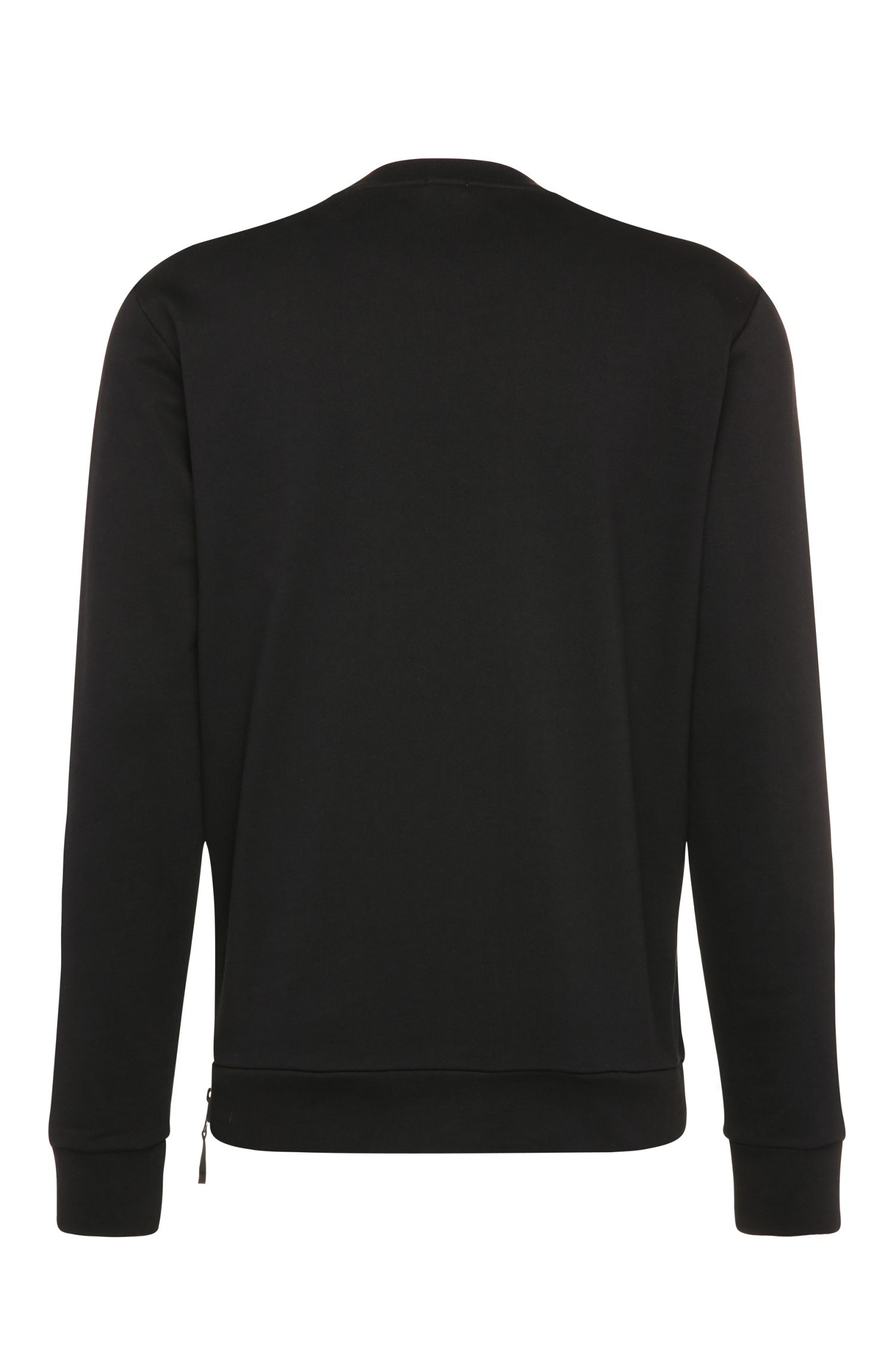 Regular-fit sweater van katoen met netbeleg: 'Salbon'