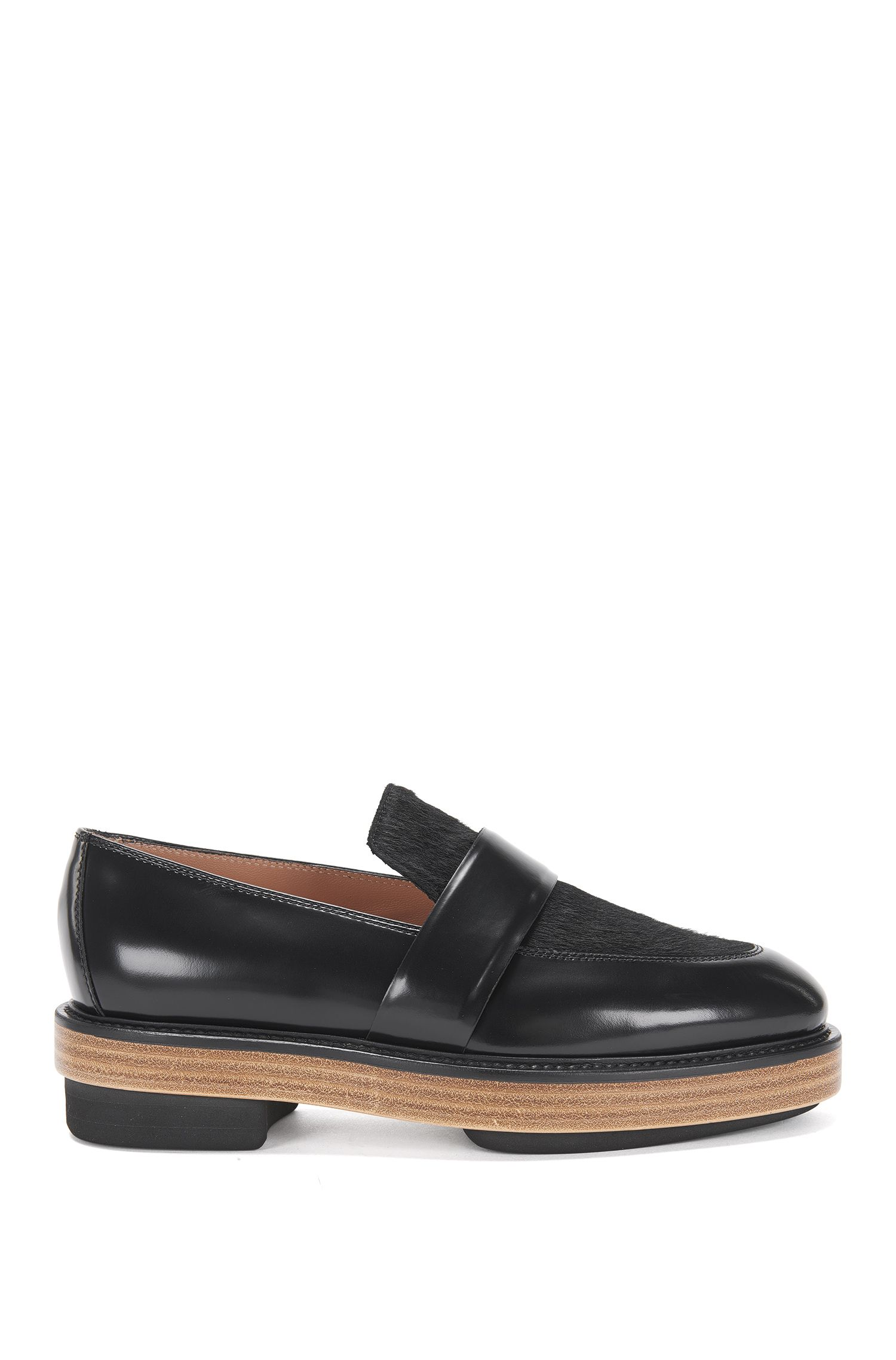 Runway Edition leather loafers with calfskin trim: 'Loafer Platform'