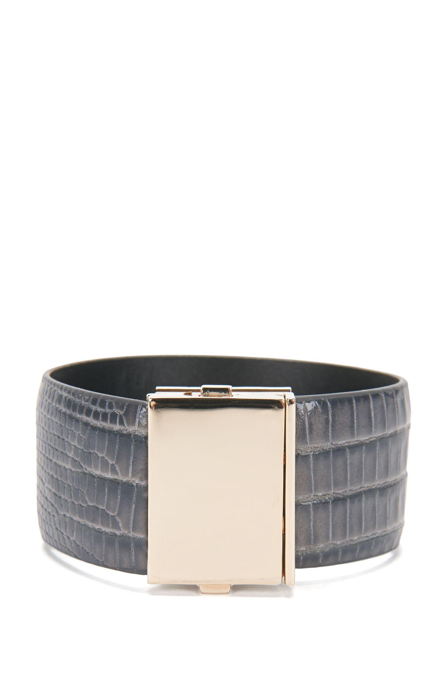 Armband van gestructureerd leer: 'Romi Bracelet-LA'