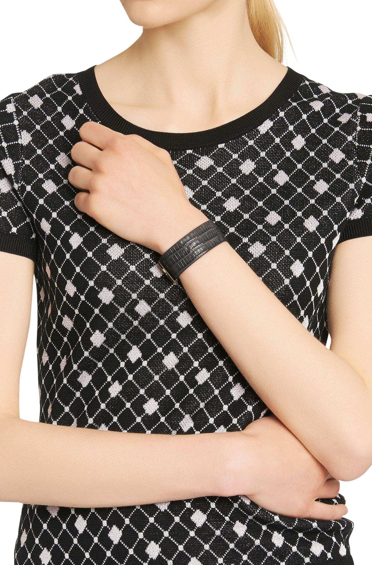 Bracelet en cuir avec imprimé lézard: «Grace Bracelet-LA»