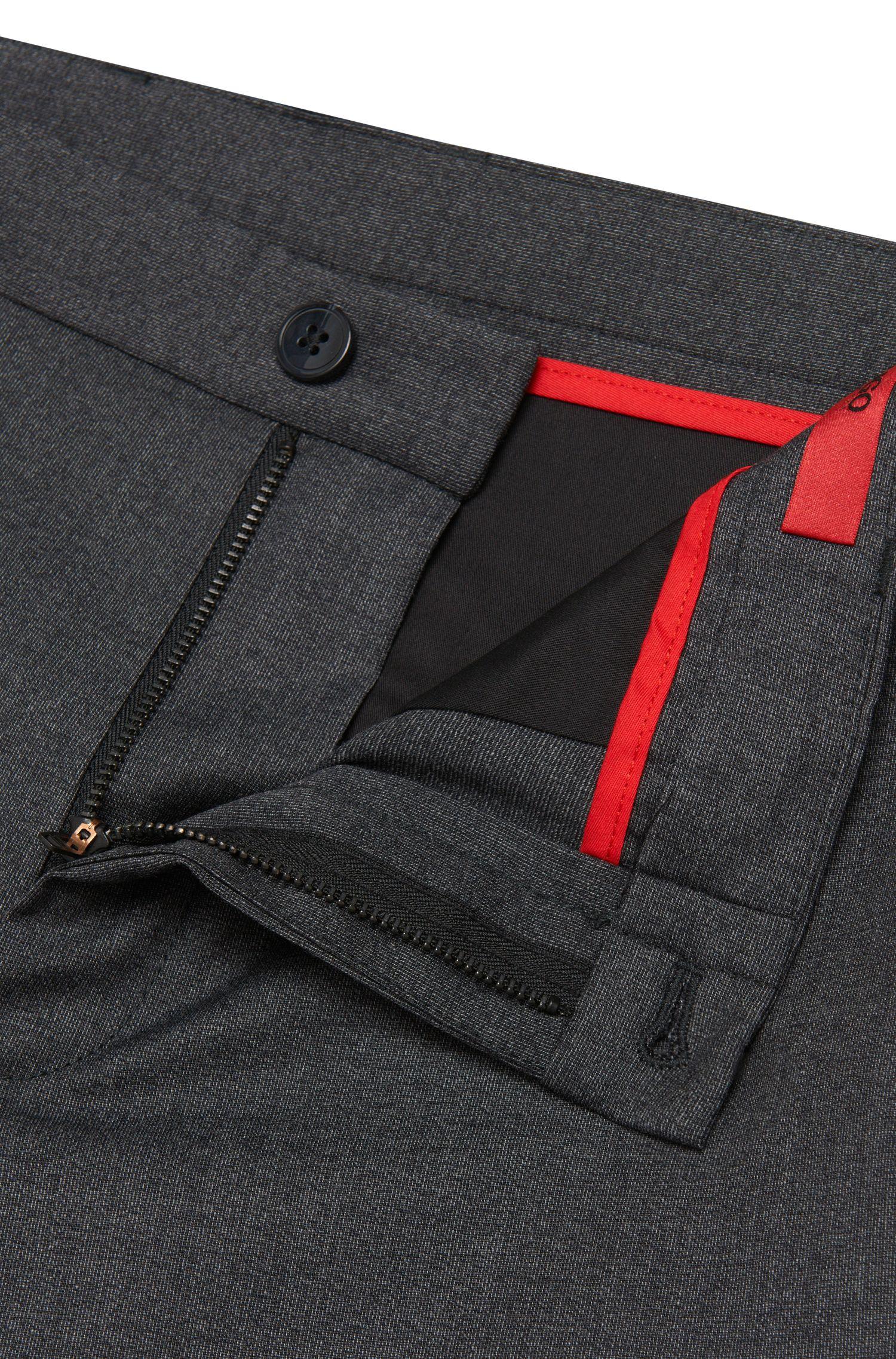 Gemusterte Extra Slim-Fit Hose aus Stretch-Schurwolle: 'Heldor1'