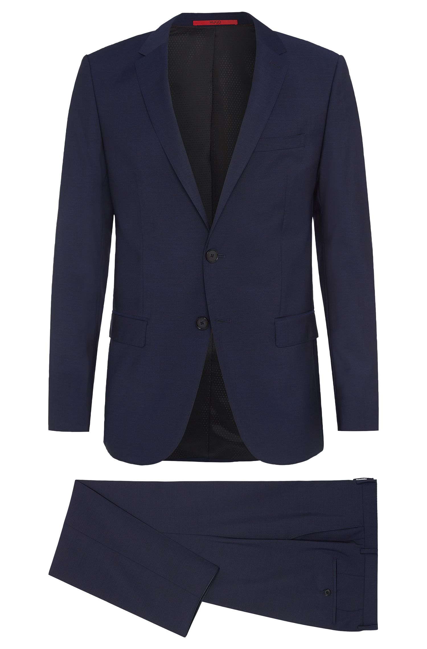 Finely mottled slim-fit suit in new wool: 'C-Harvey/C-Getlin'