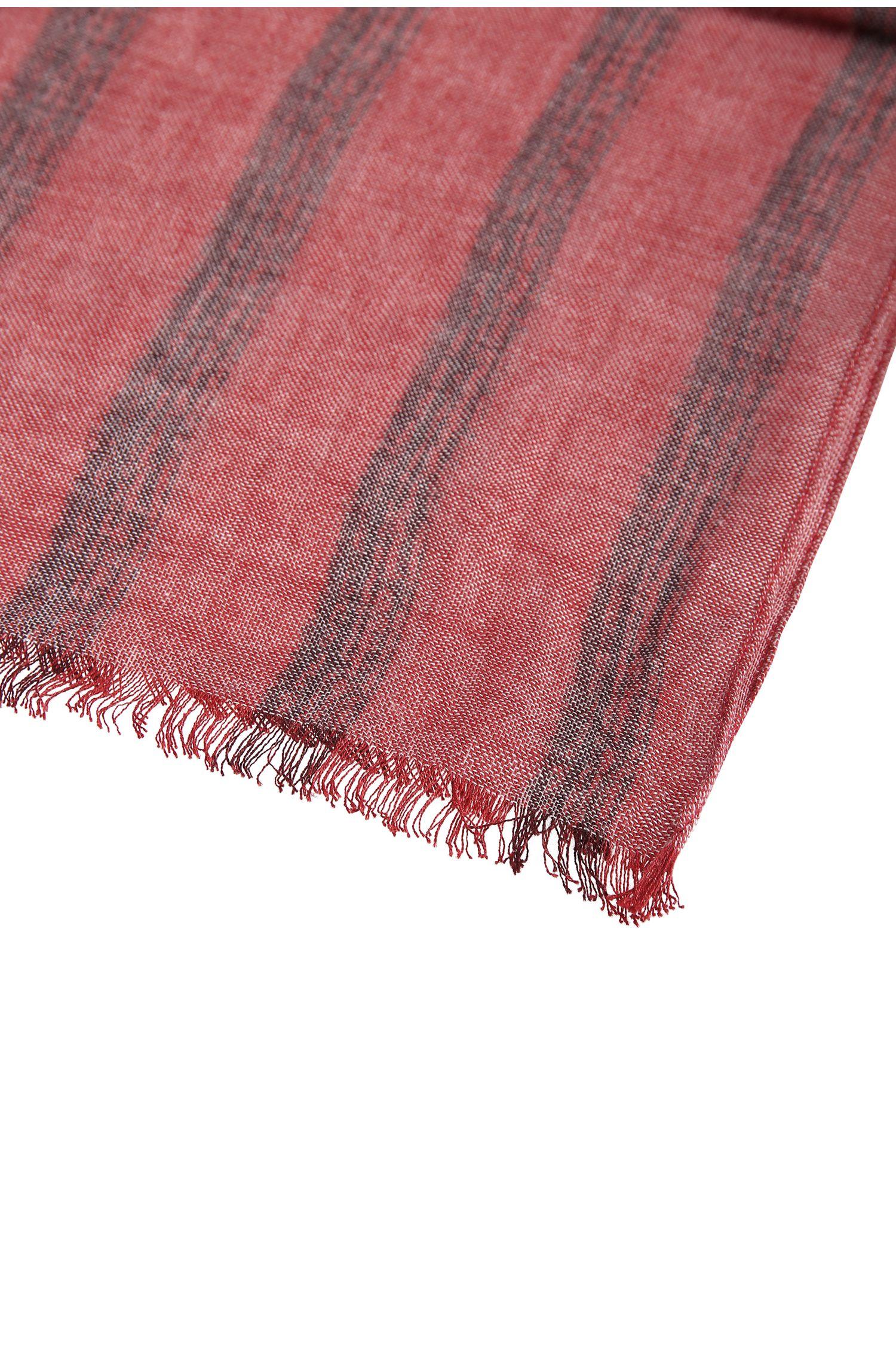 Écharpe à rayures en coton mélangé: «Nabril»