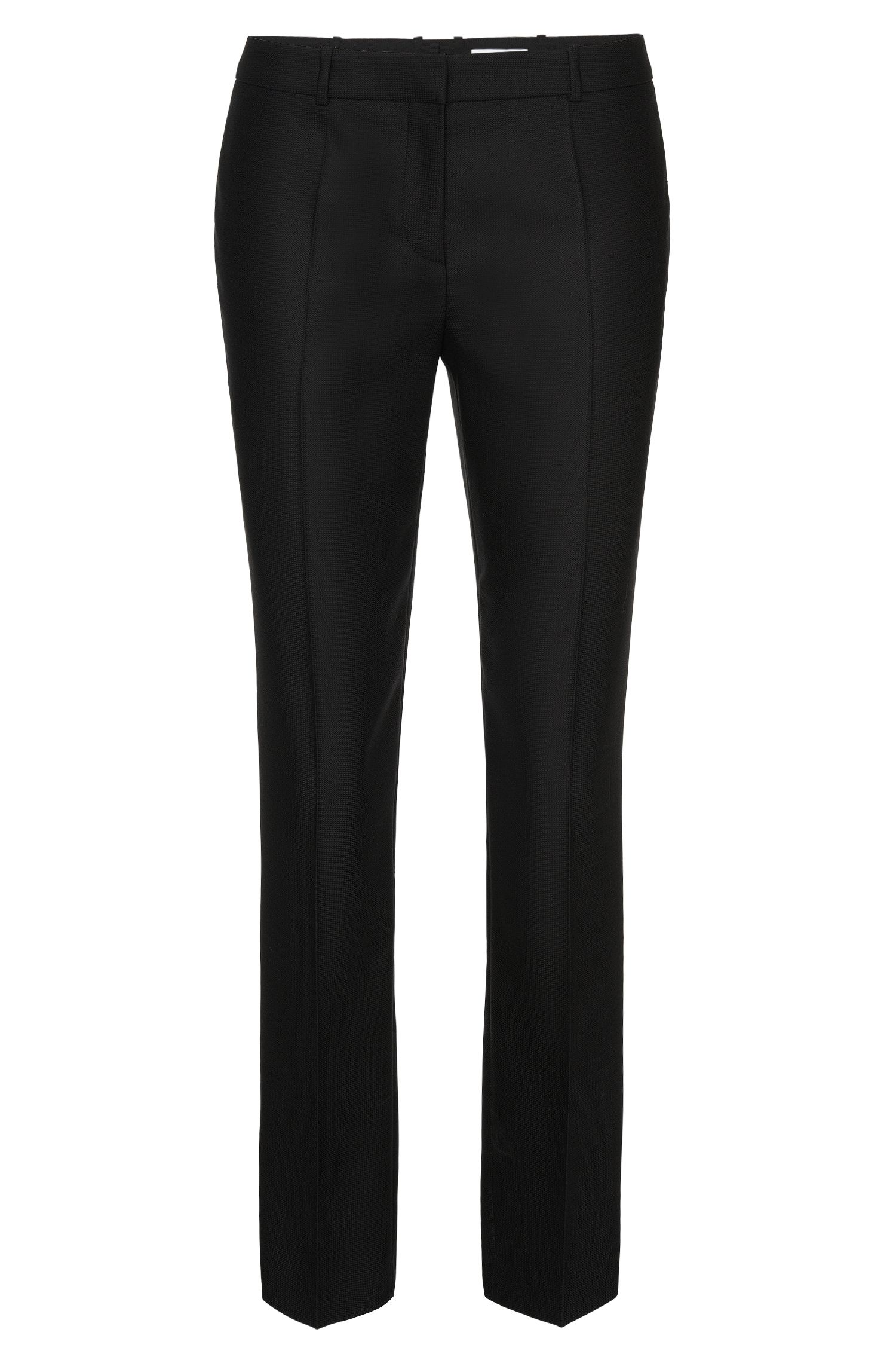 Slim-fit trousers in pure new wool: 'Tiluna1'