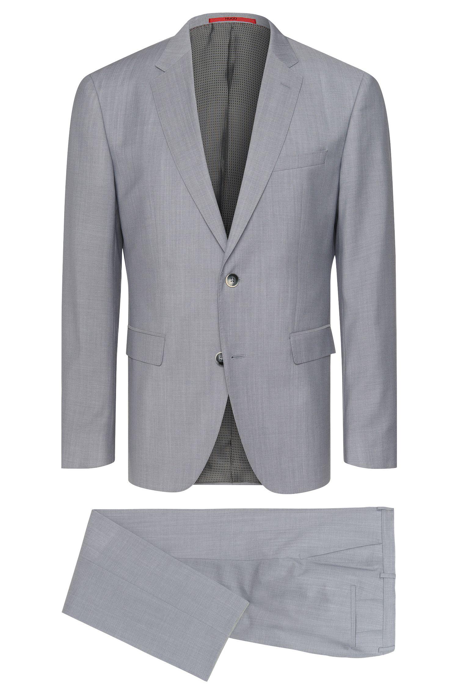 Melierter Regular-Fit Anzug aus Schurwolle: 'C-Jeys1/C-Shaft1'
