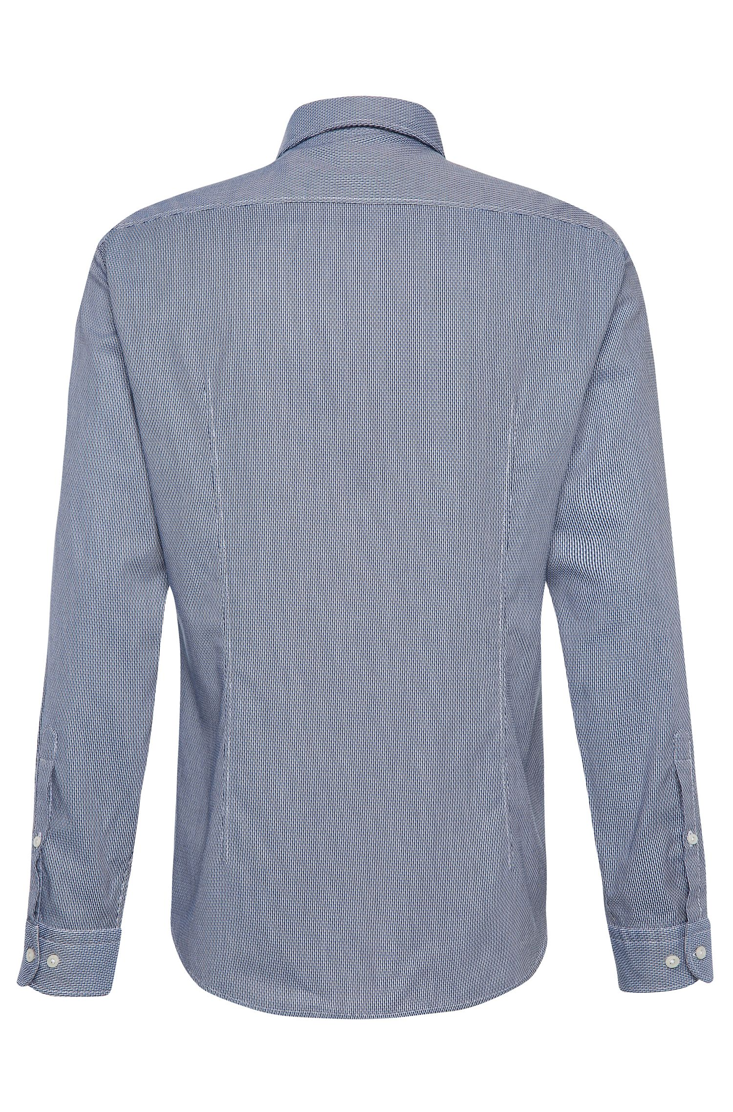 Slim-Fit Baumwollhemd mit Gewebemuster: ´Brizzi`