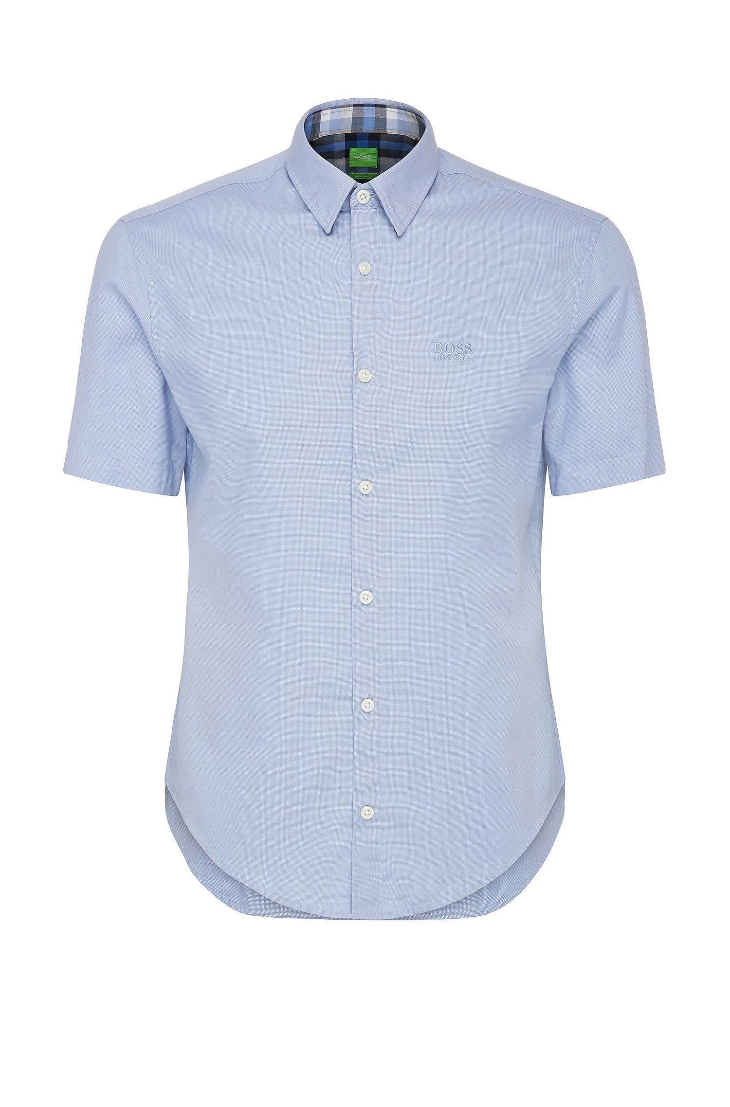 Regular-Fit Kurzarm-Hemd aus Baumwolle: ´C-Busterino`