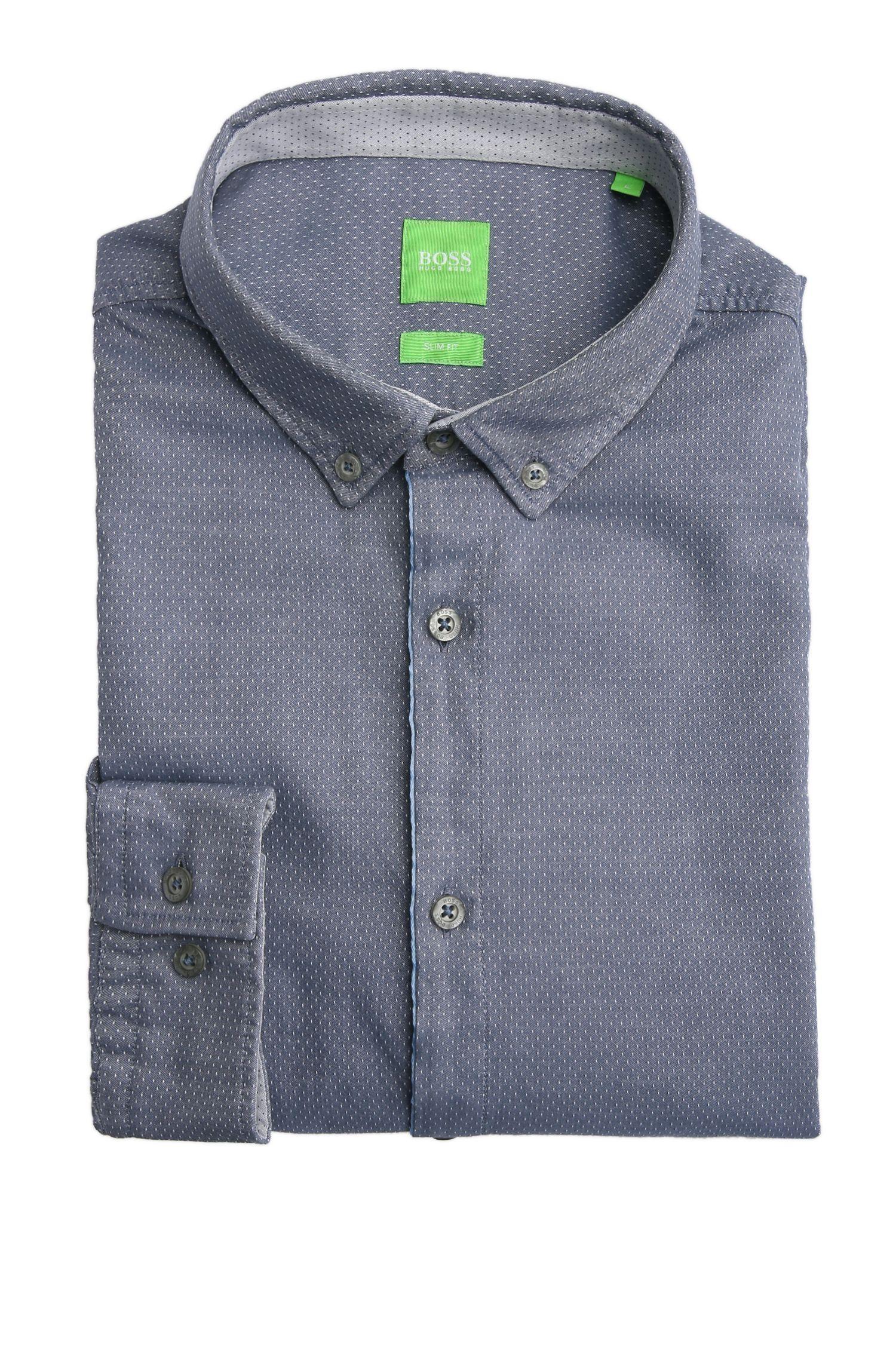 Chemise Slim Fit en coton à motif discret: «C-Baltero»