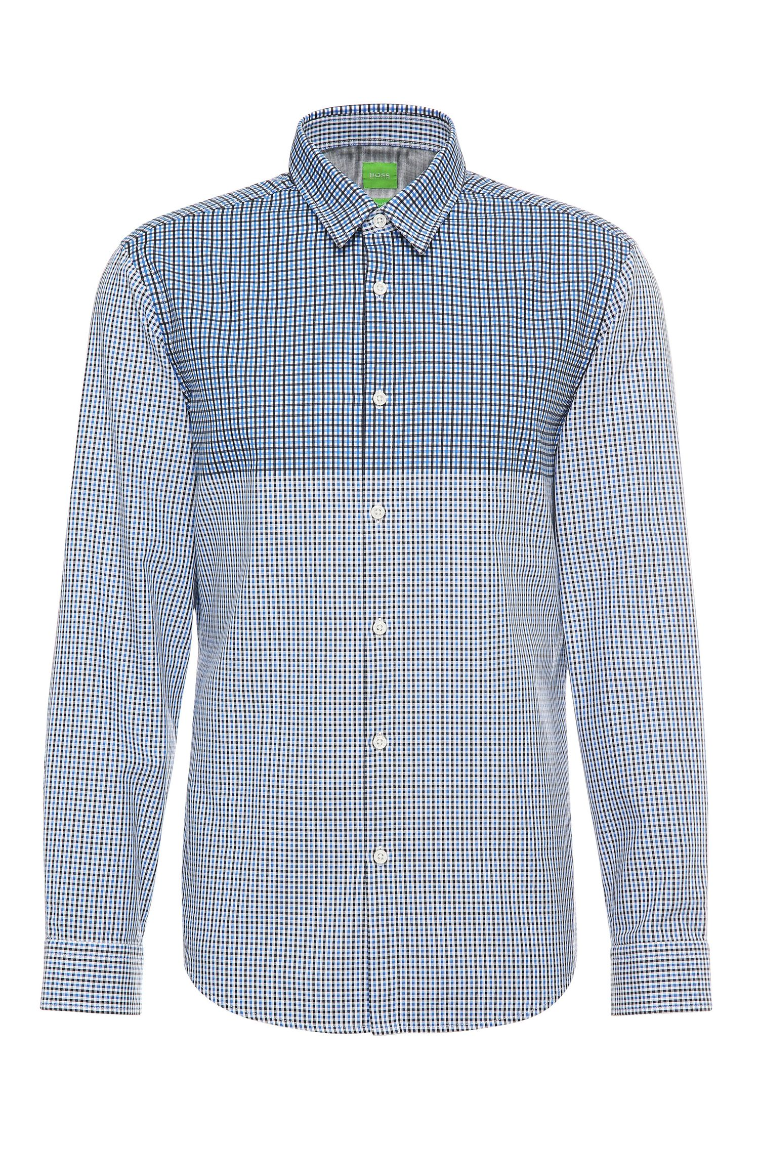 Checked regular-fit cotton shirt: 'C-Briar'