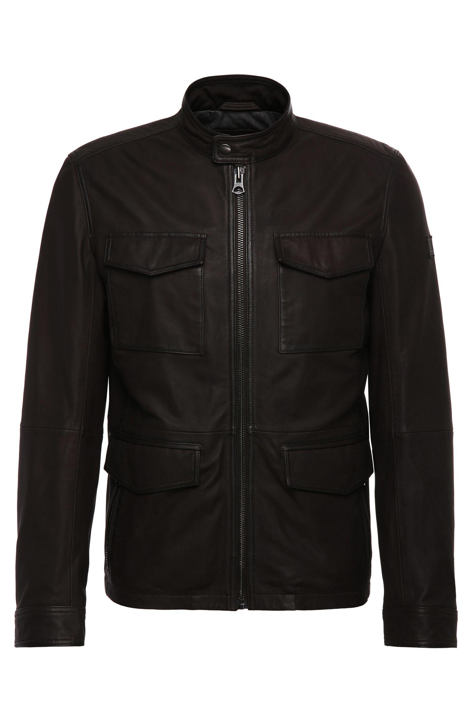 Field-Jacket aus gewachstem Leder:  ´Jeep`