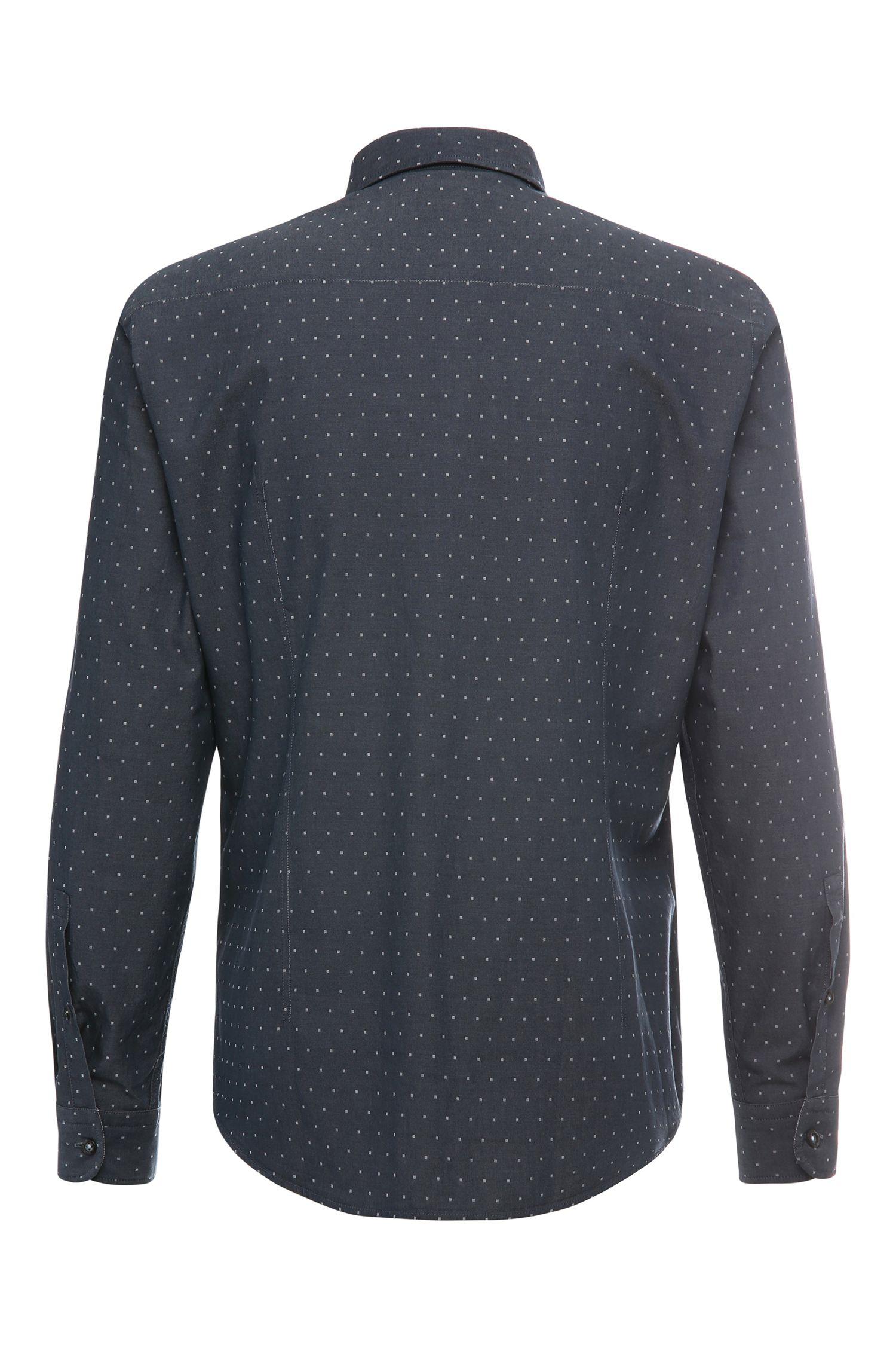 Regular-Fit Hemd aus Baumwolle mit Kästchen-Muster: ´C-Bacchis`