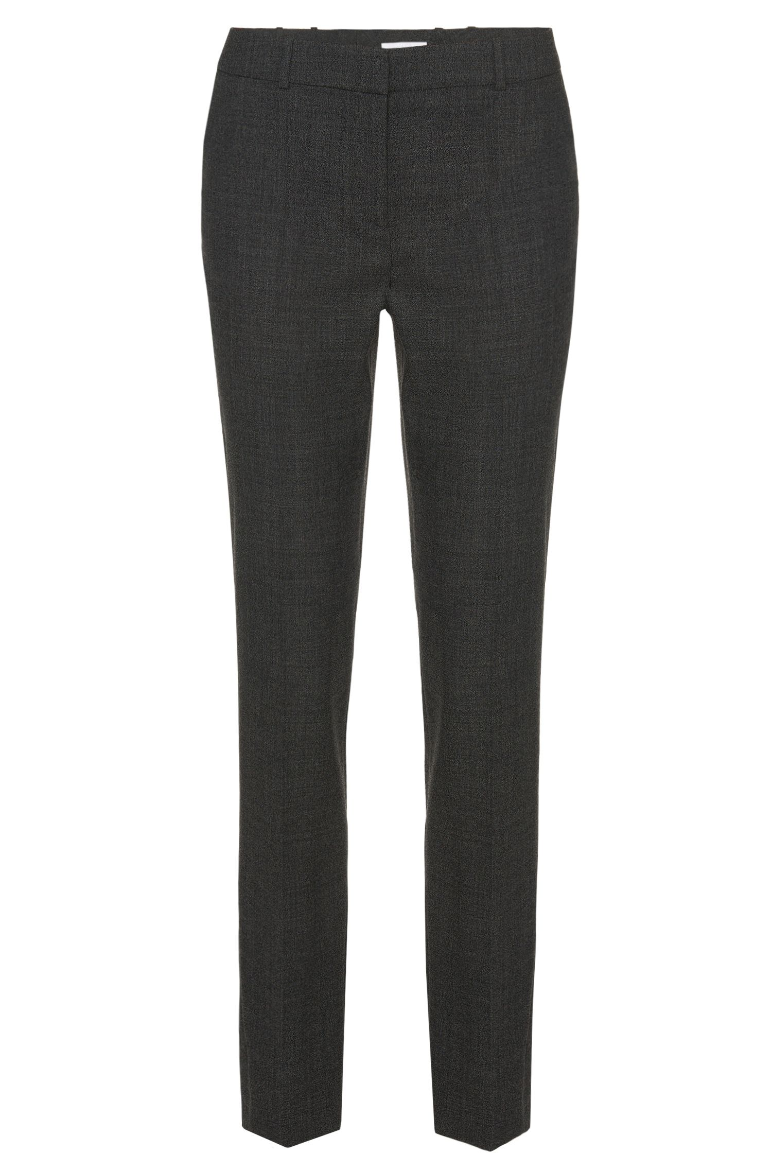 Slim-fit broek van scheerwol met stretch: 'Tiluna1'