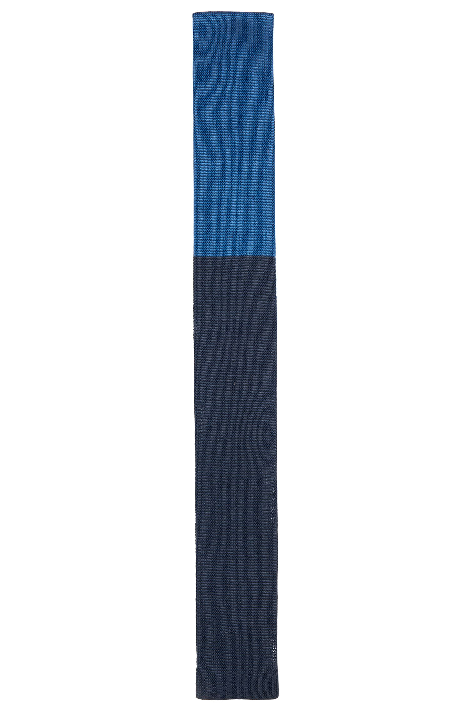 2-tone pure silk tie: 'Tie 5 cm knitted'