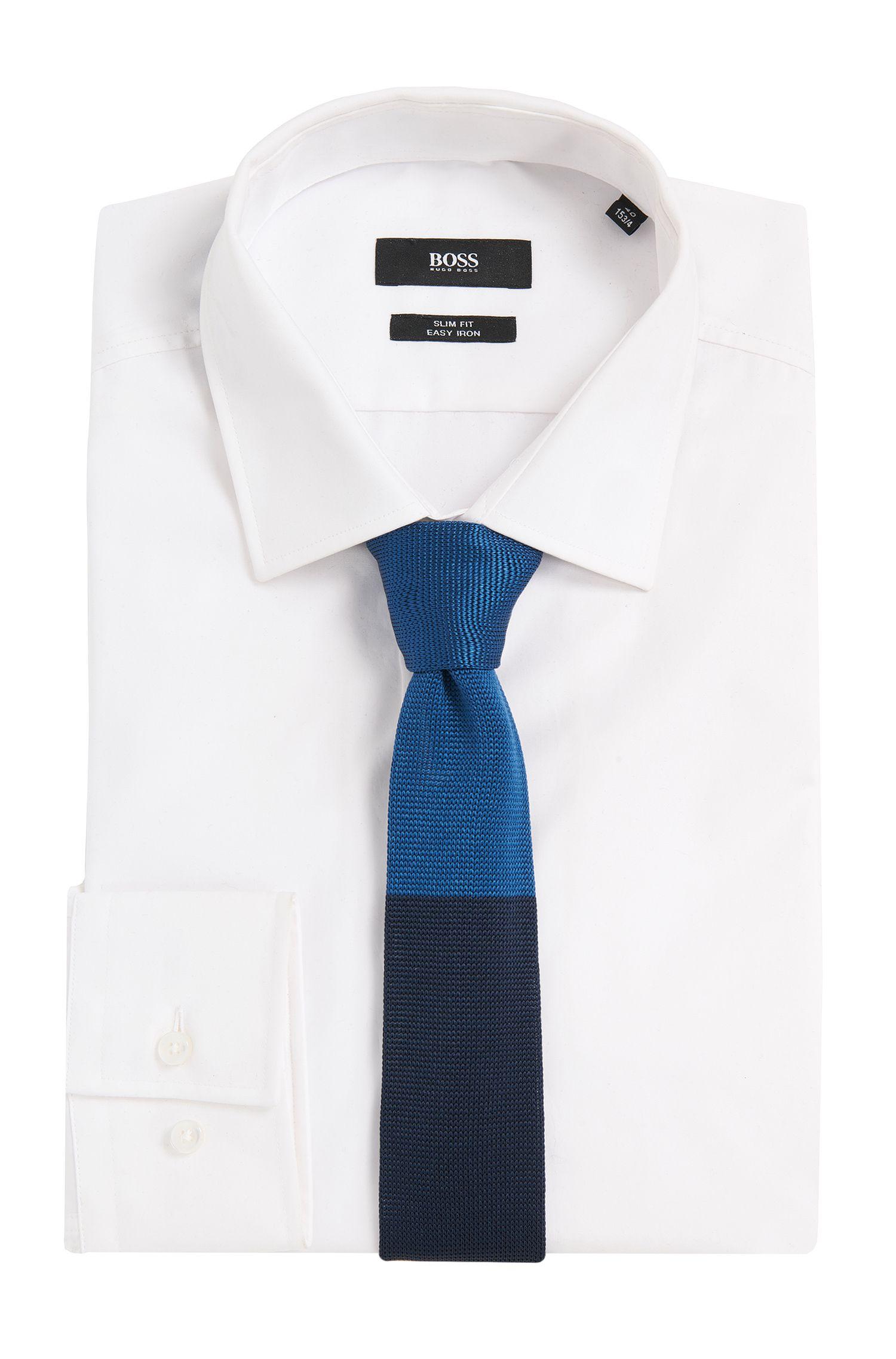 Cravate en pure soie bicolore: «Tie 5cm knitted»