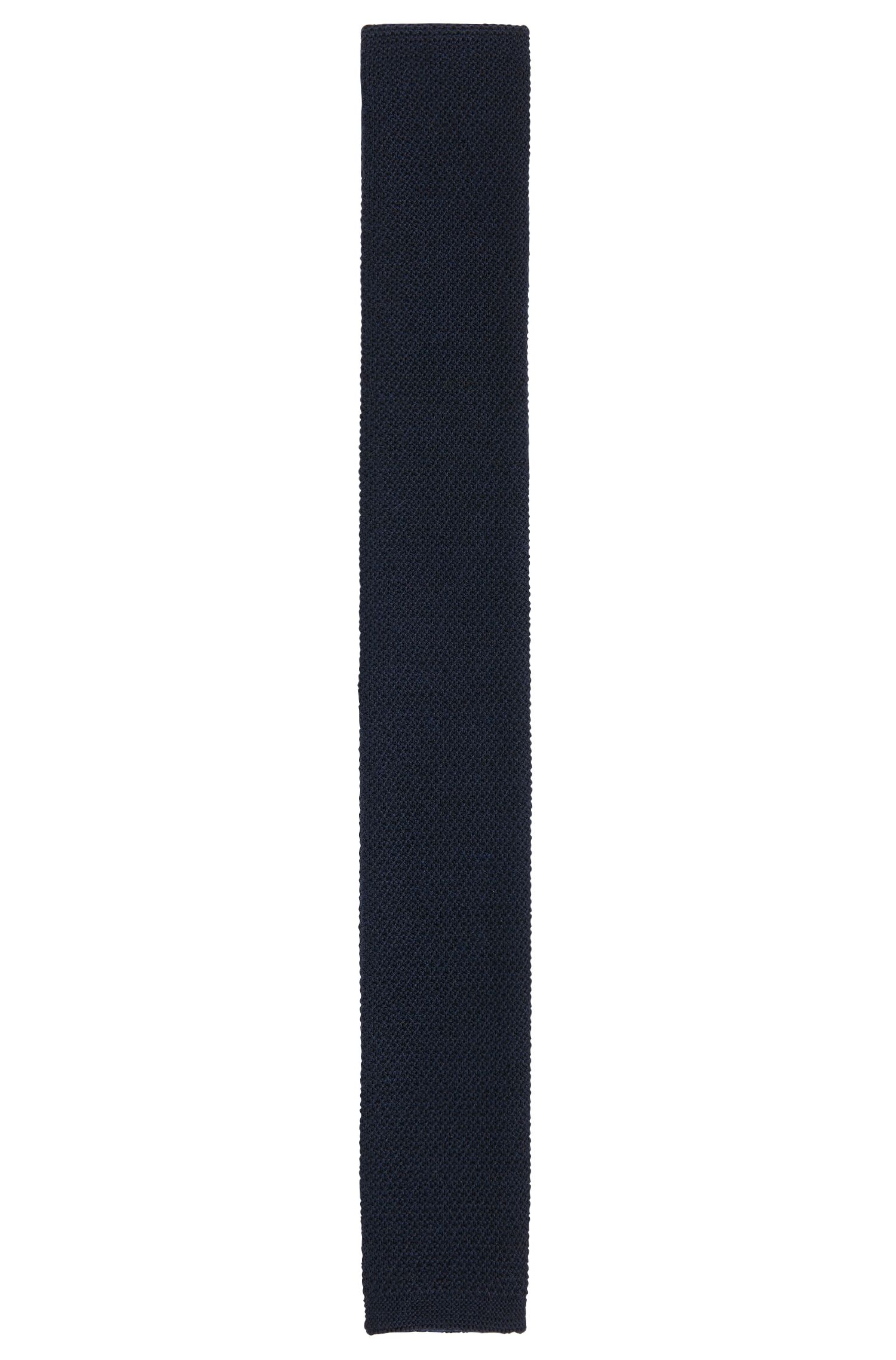 Woollen tie in finely knitted quality: 'Tie 5 cm knitted'