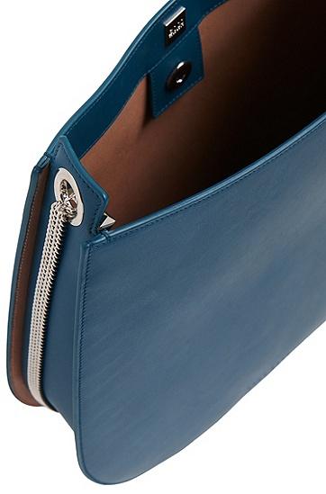 BOSS Bespoke Hobo Bag aus Leder, Blau