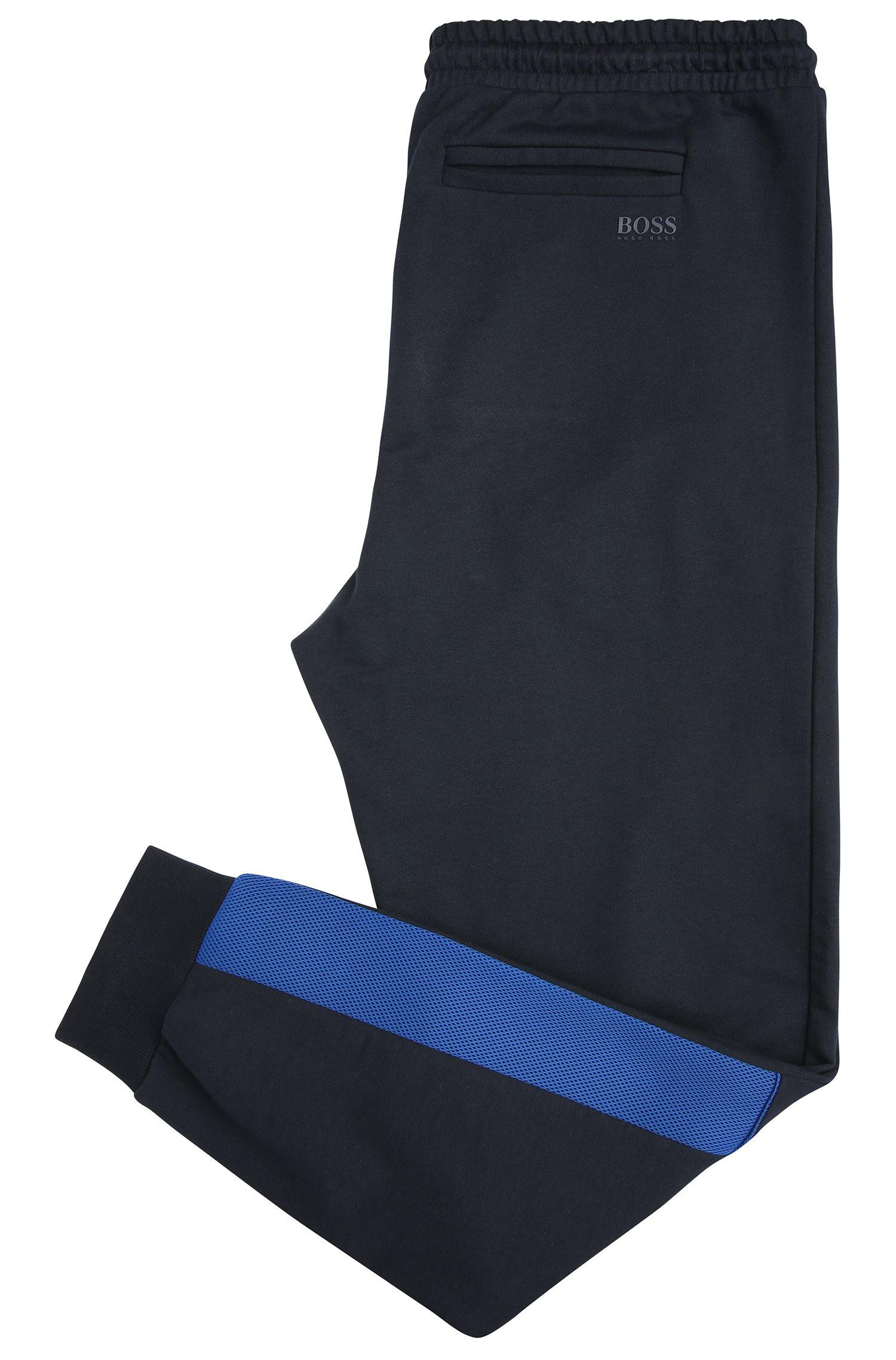 Relaxed-fit joggingbroek van katoen met contrastbeleg: 'Harid'