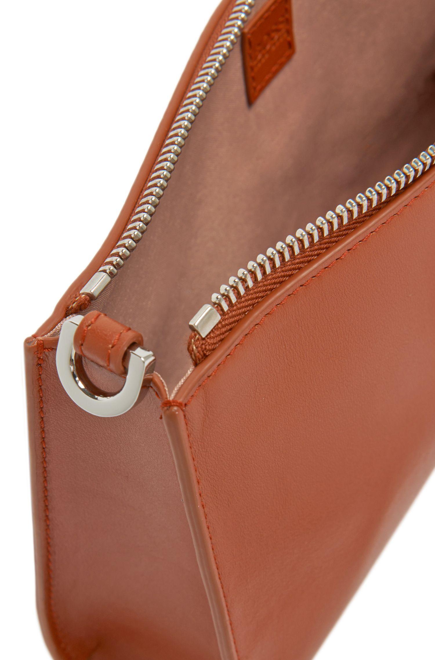 Kosmetiktasche aus Leder mit abnehmbarem Schulterriemen: 'Staple Mini Bag-N'