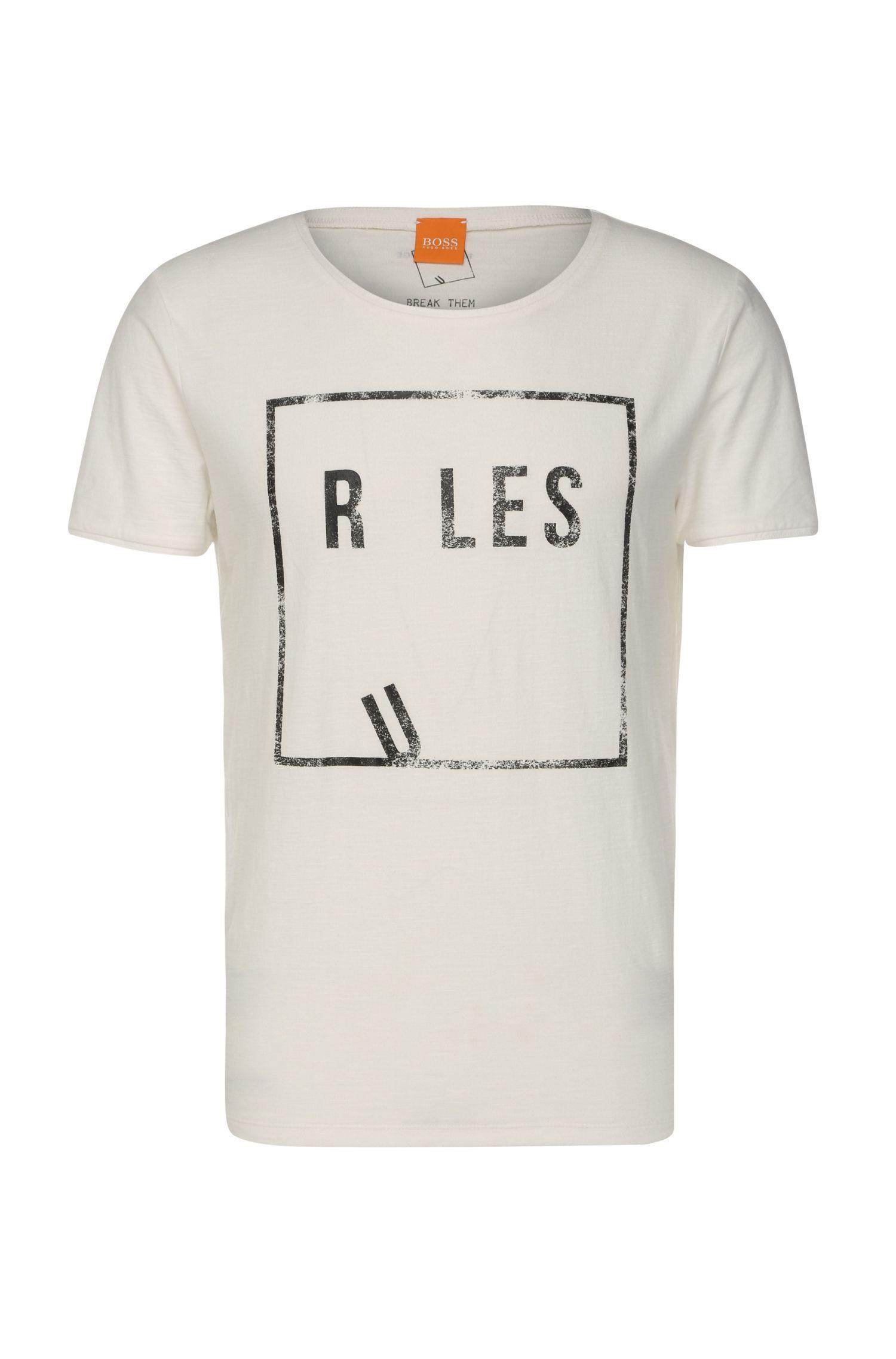 Comfort-fit shirt van katoenen jersey, met print: 'Trafalgar'