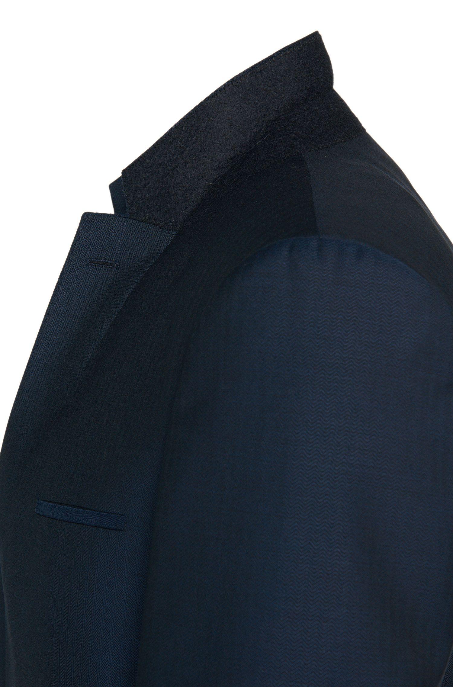 Slim-fit kostuum met gilet van scheerwol met een fijn dessin: 'Arney/Wilord/Hyls'