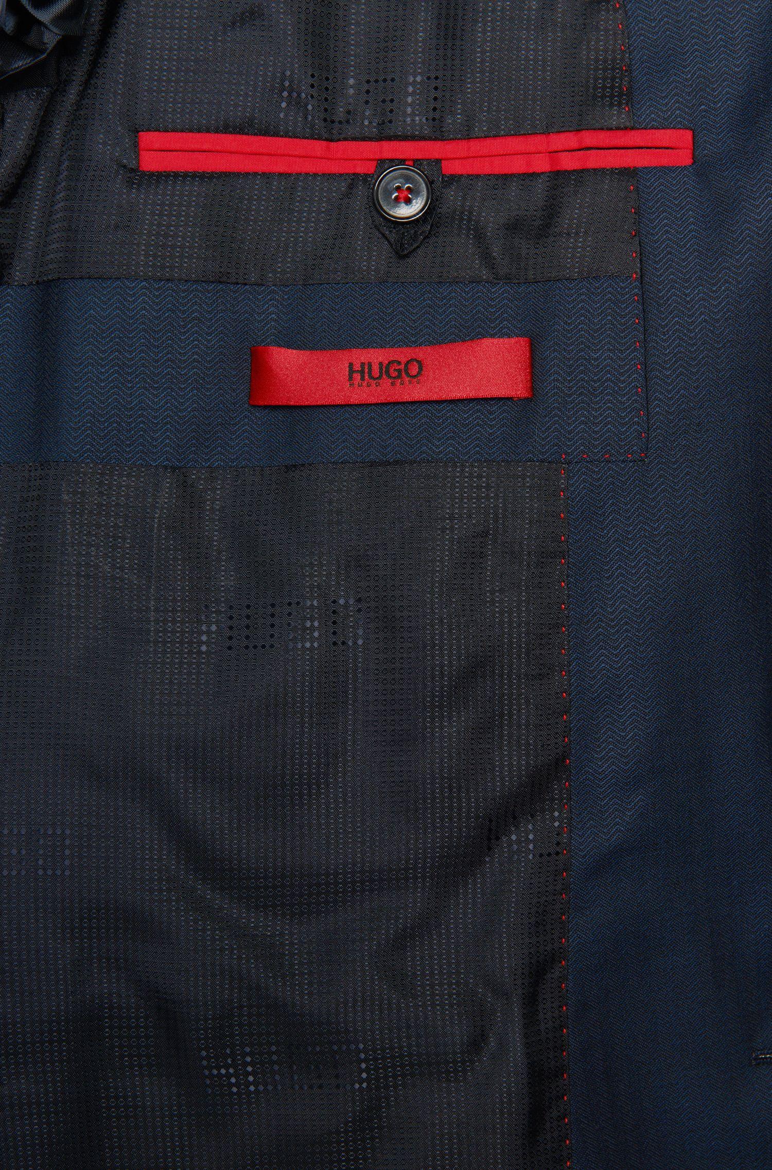 Fein gemusterter Slim-Fit Anzug aus Schurwolle mit Weste: 'Arney/Wilord/Hyls'