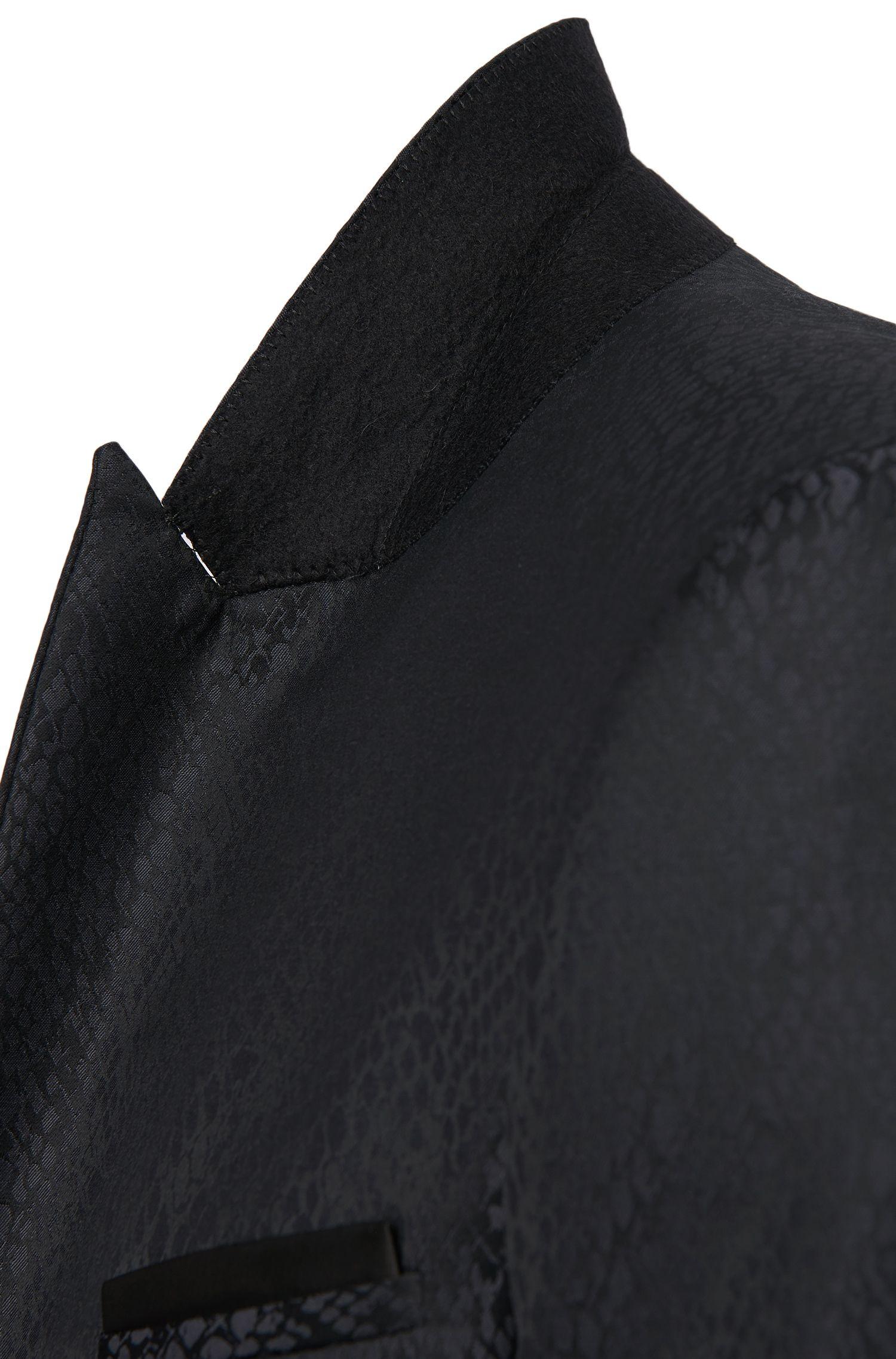 Veste de costume extra Slim Fit en laine vierge mélangée, pourvue d'une pochette intégrée: «Alery»