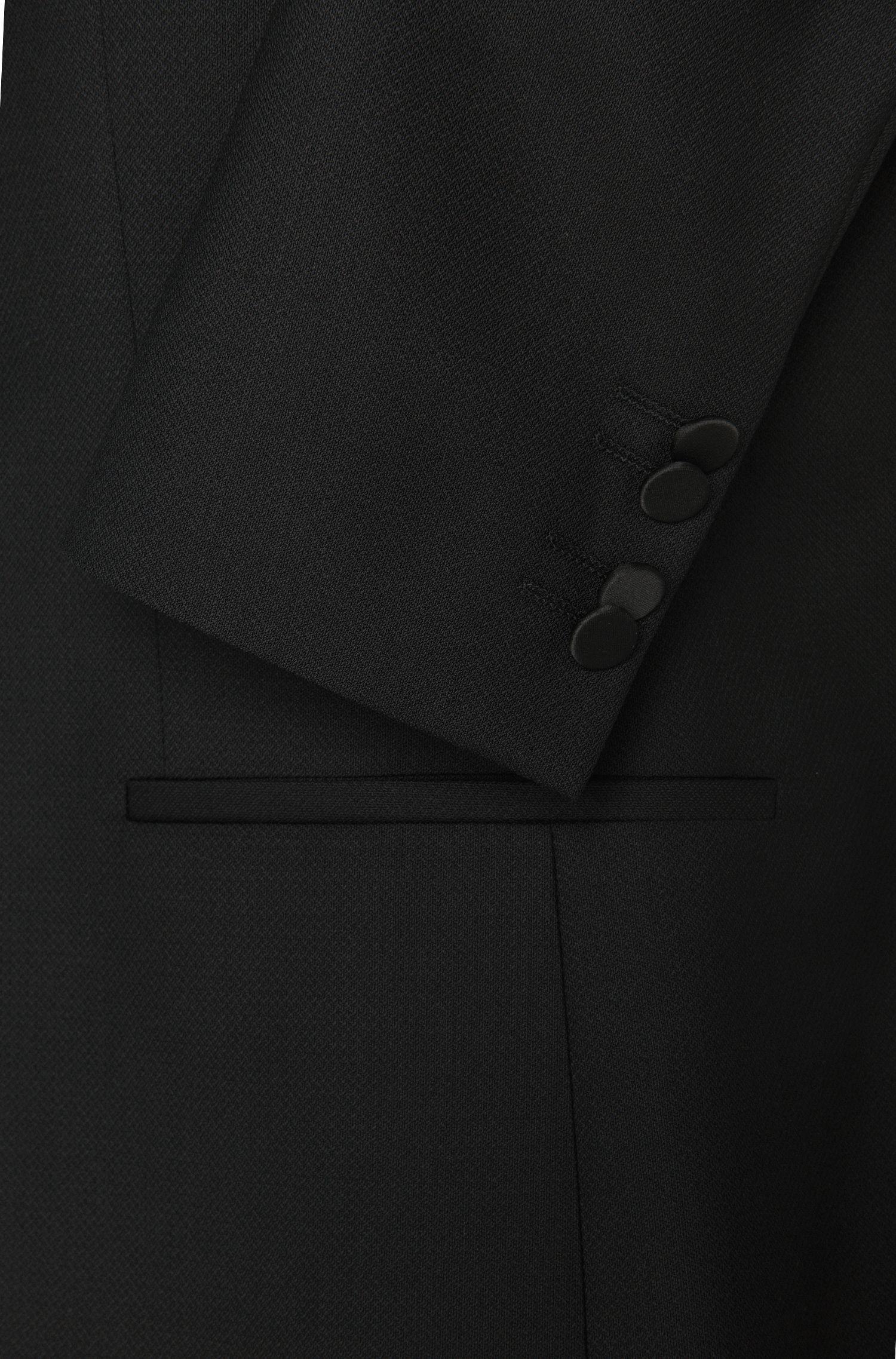 Extra Slim-Fit Sakko aus Schurwolle mit schimmerndem Kragen: 'Adrison1'