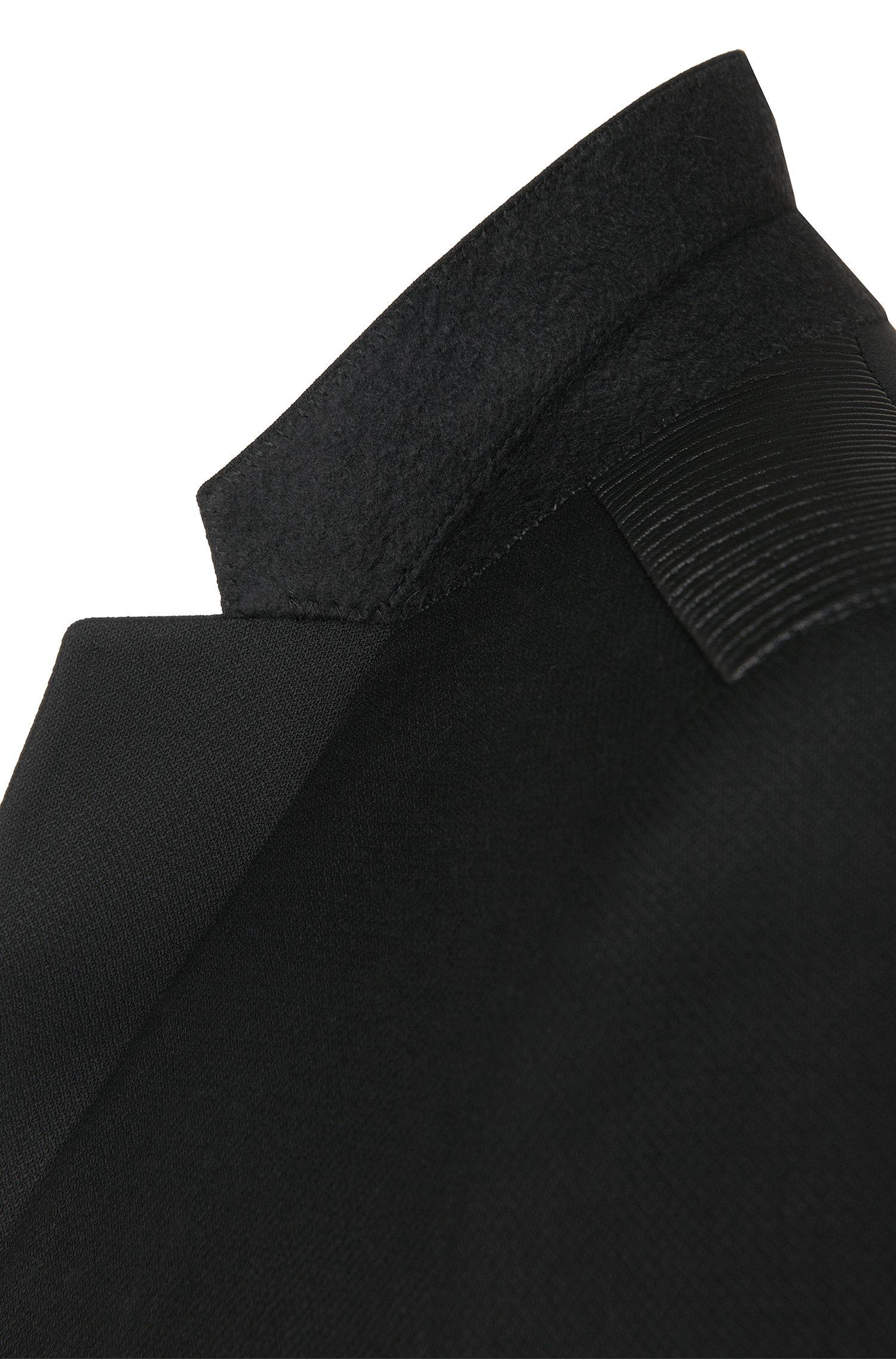 Extra slim-fit colbert van scheerwol met schouderdetail: 'Andson'