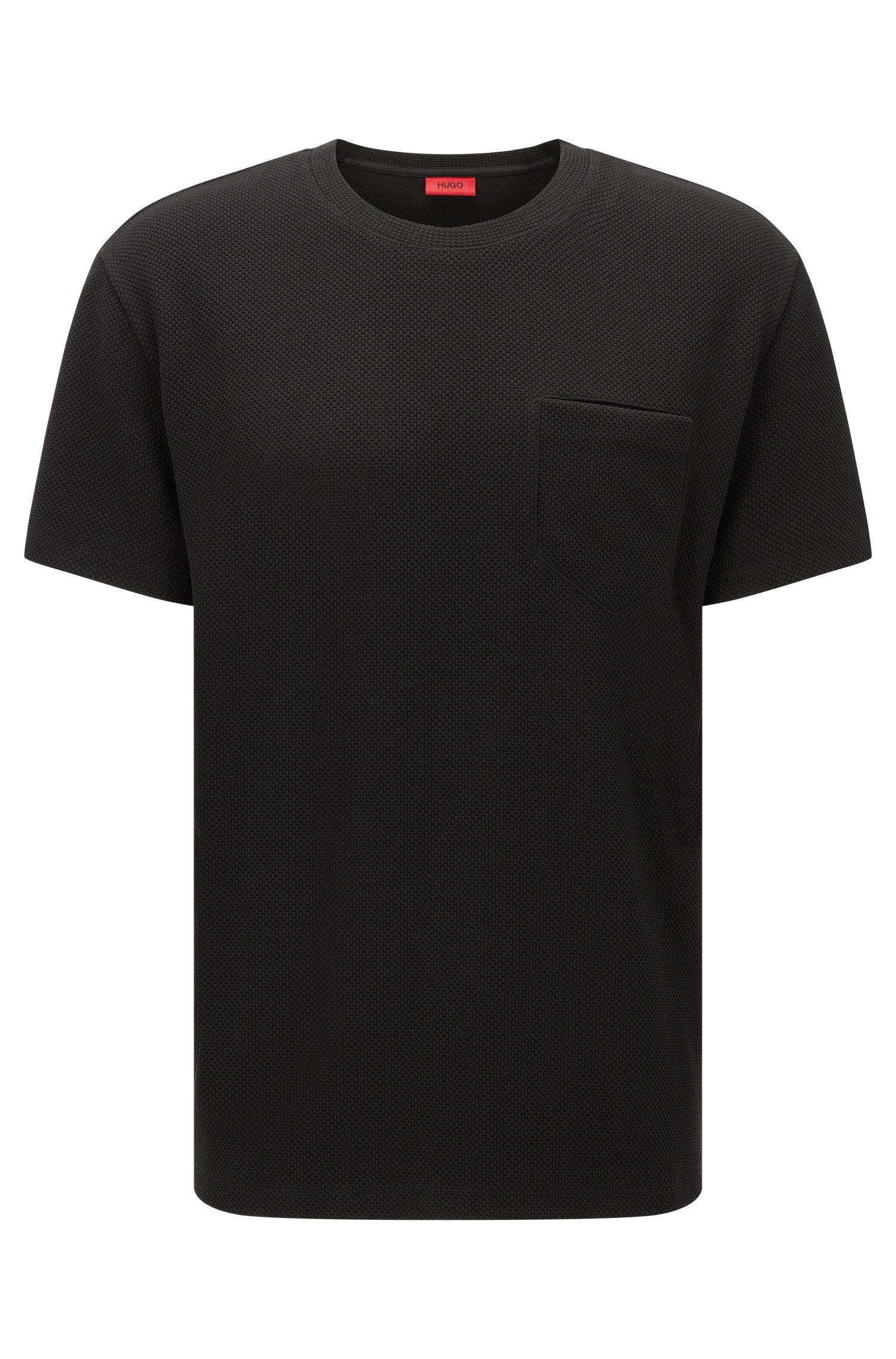 Oversized-fit sweatshirt met korte mouwen en borstzak: 'Dandalay'