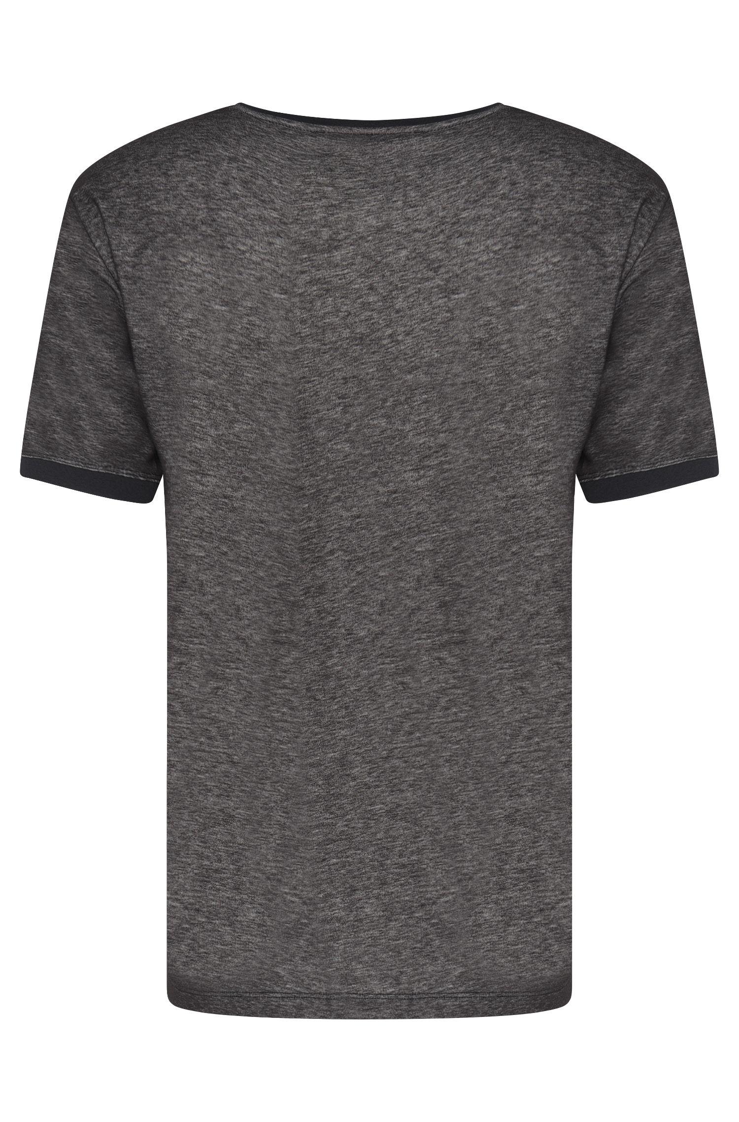 Gemêleerd loose-fit T-shirt van een katoenmix: 'Dircus'
