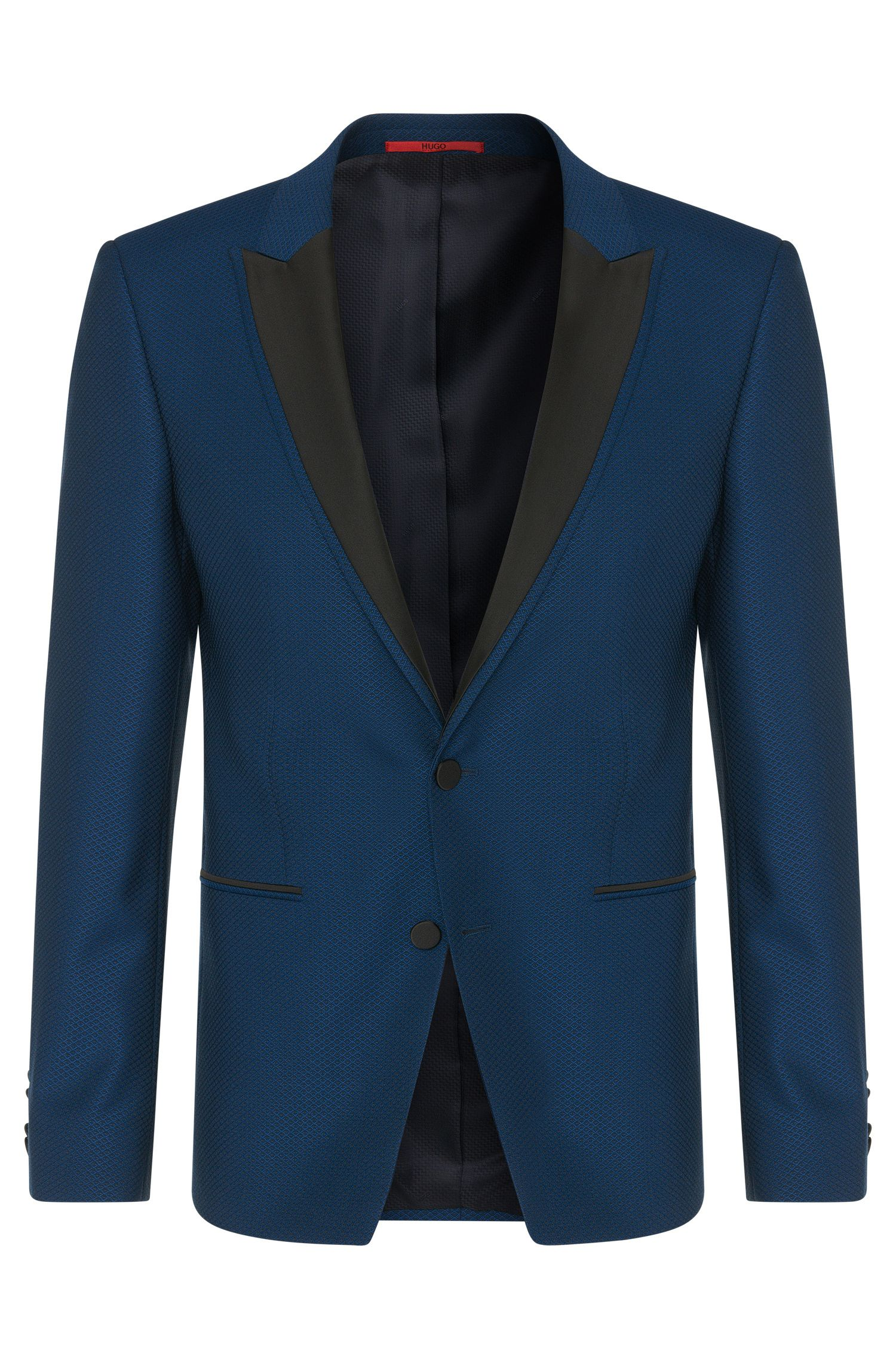 Extra slim-fit jacket in new wool with peak lapel: 'Alery'