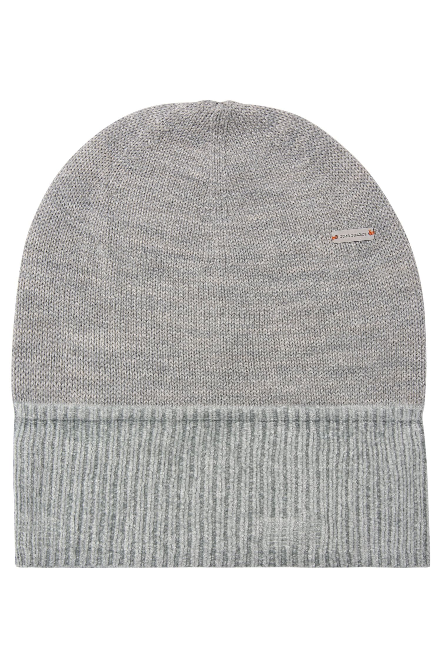 Knit cap in wool blend with cotton: 'Fidoo'