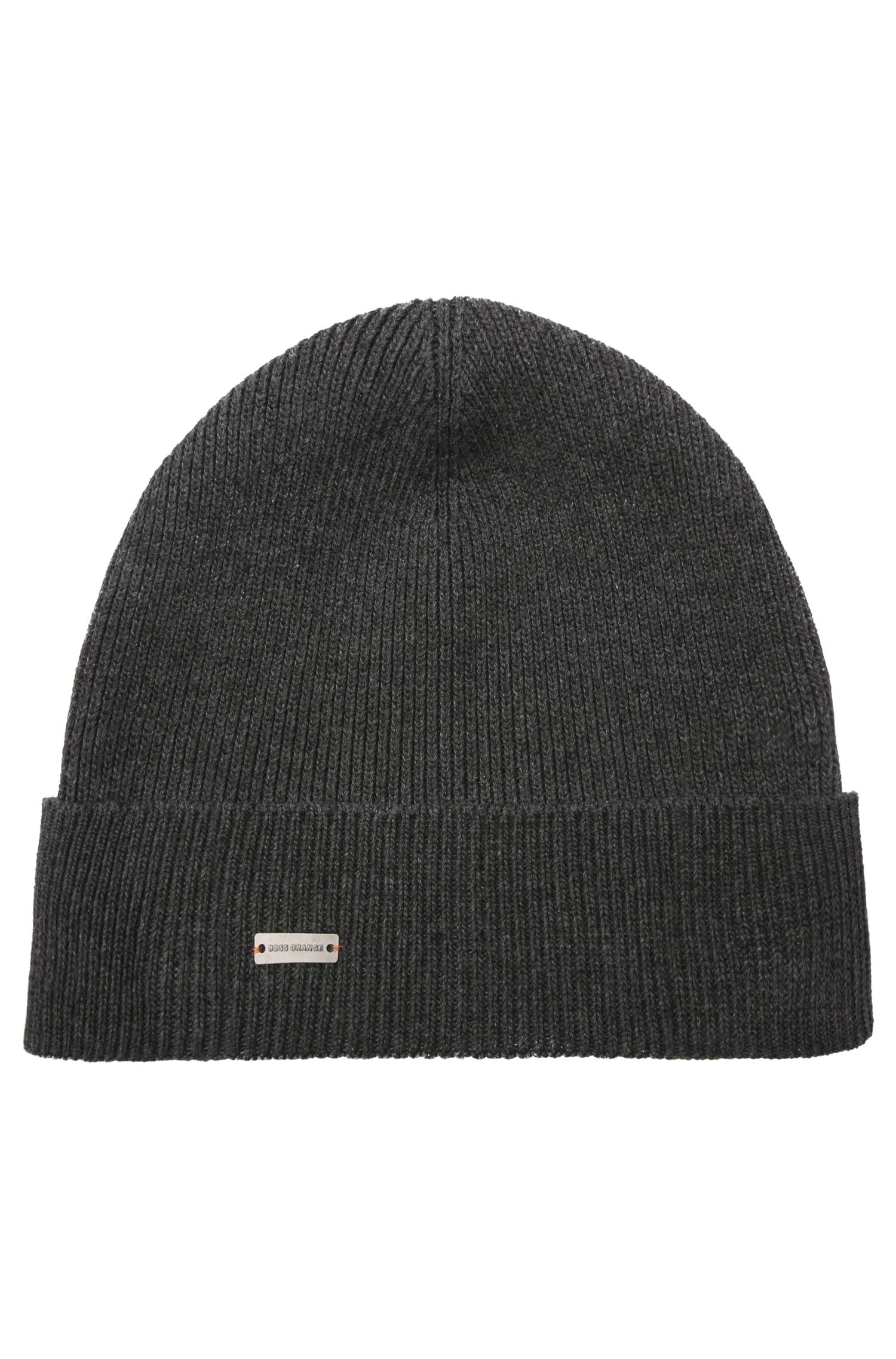 Knit cap in cotton blend: 'Fomeros'