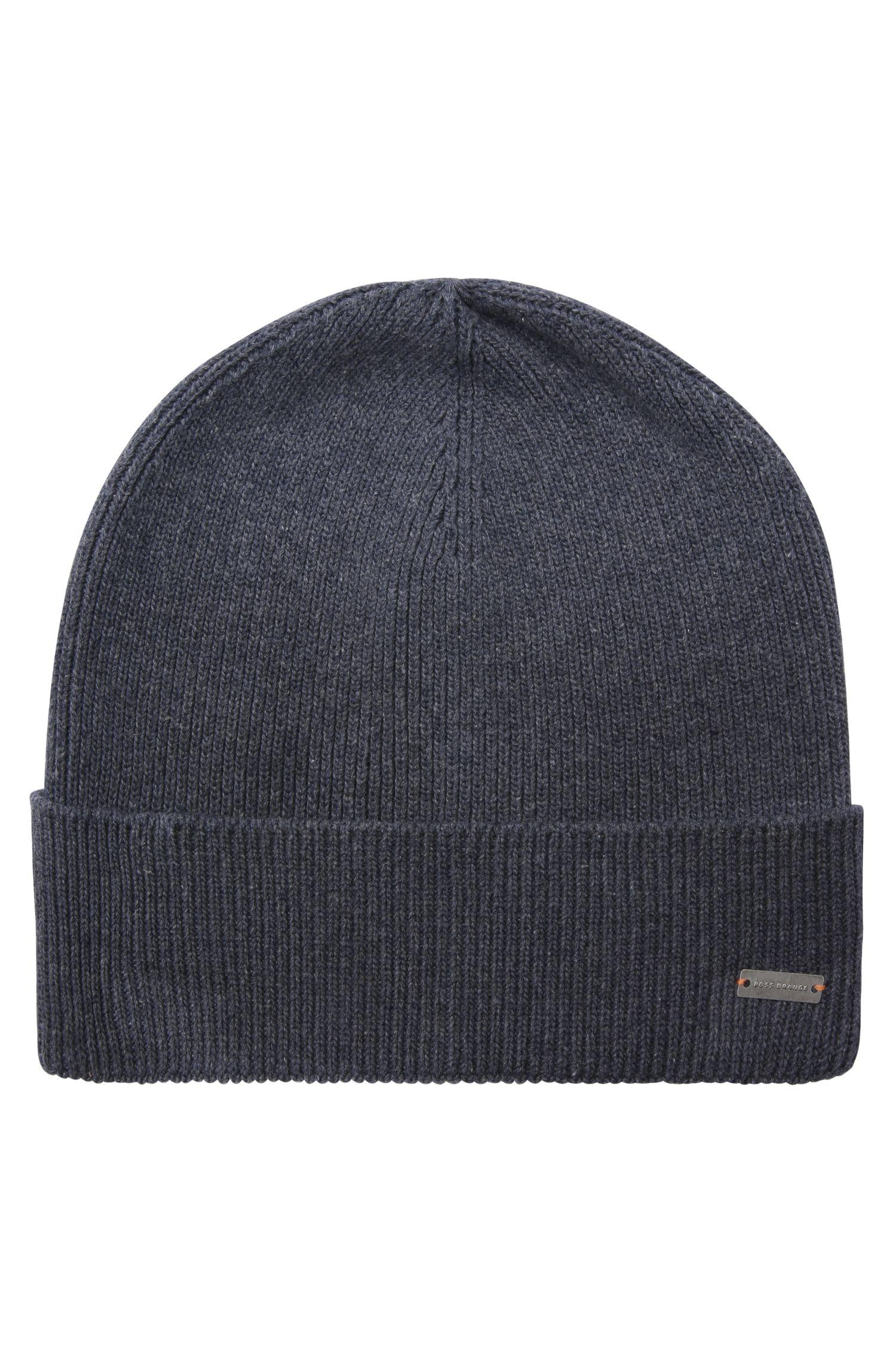 Knit cap in cotton blend: 'Fomeros'