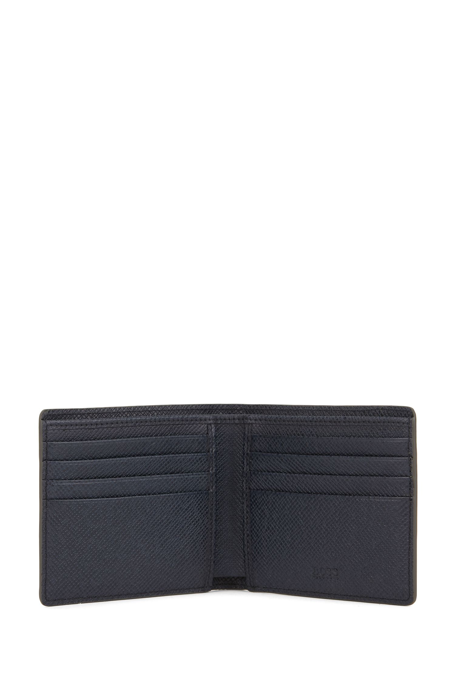 Portemonnaie aus strukturiertem Leder: 'Signature_4cc coin B'