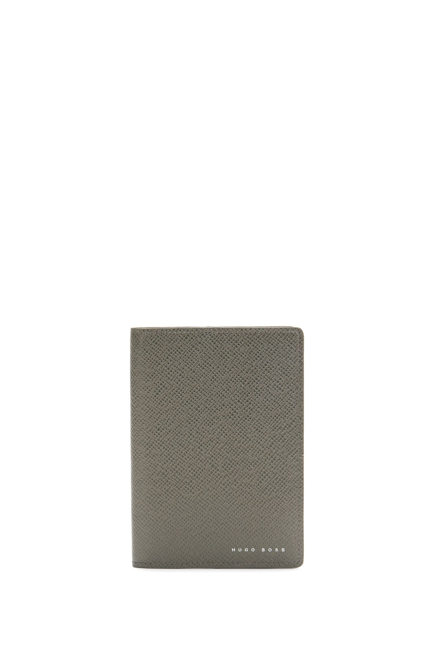 Leather passport holder with contrast interior: 'Signature_Passport B'