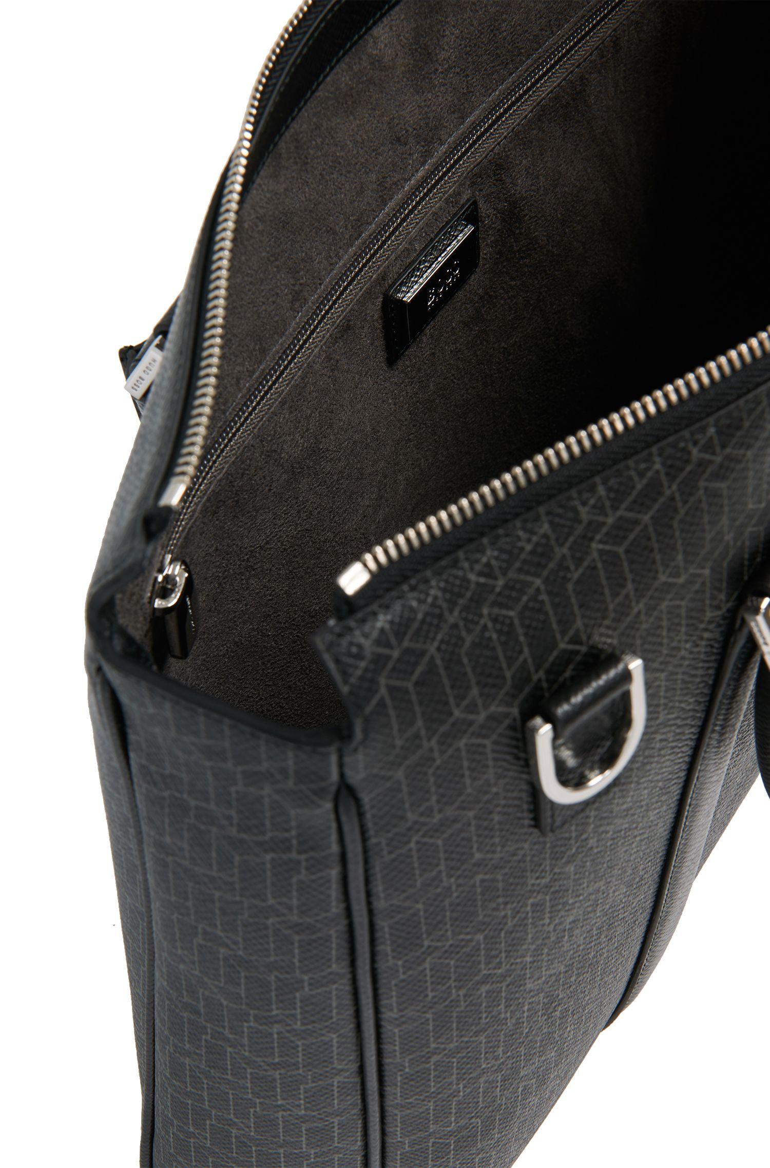 Workbag aus Leder mit geometrischem Print: 'Signature H_S doc'