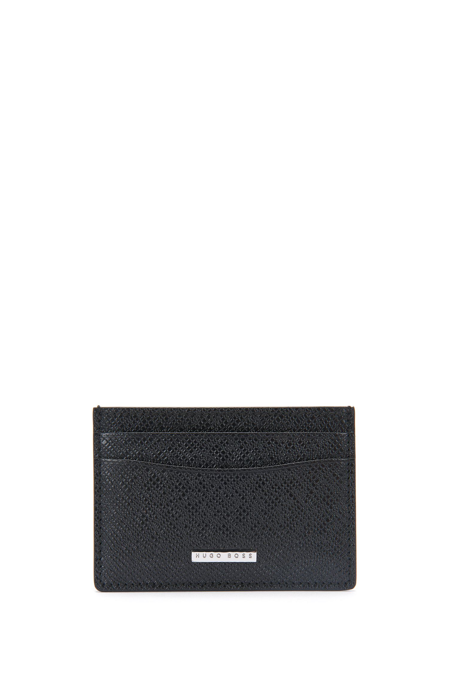 Leather card case with window compartment: 'Signature_3cc window'
