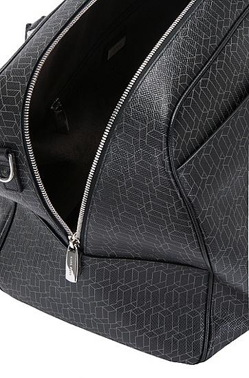Weekender aus Leder mit geometrischem Muster: 'Signature H_Holdall', Gemustert