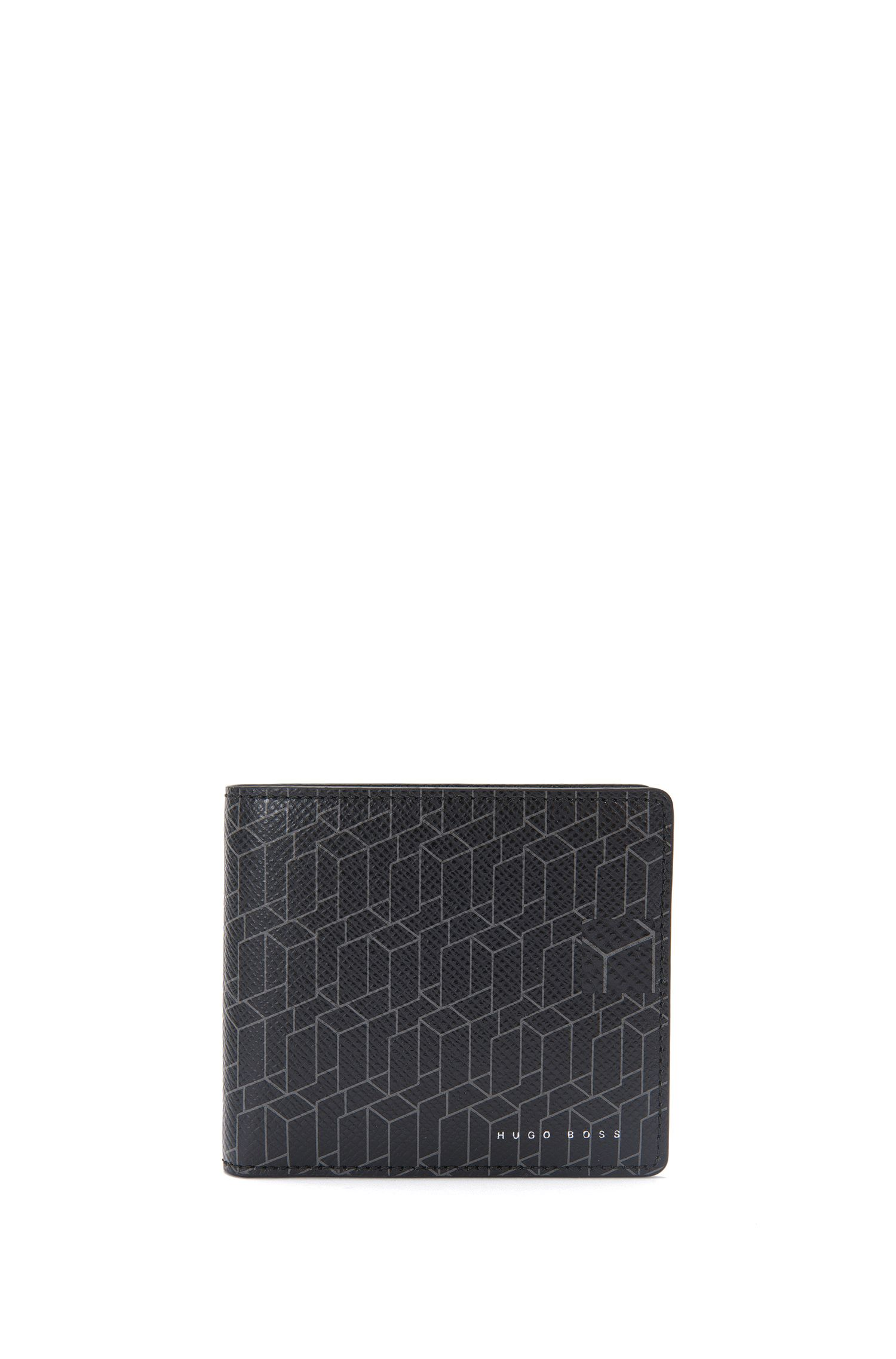 Leather wallet with geometric print: 'Signature H_8 cc'