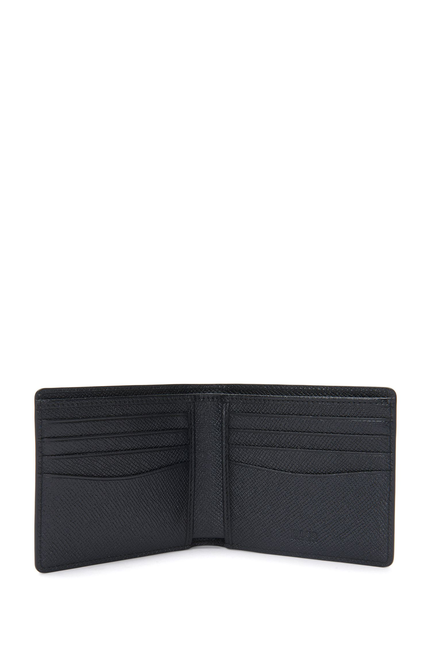 Portefeuille en cuir à imprimé géométrique: «Signature H_8 cc'»