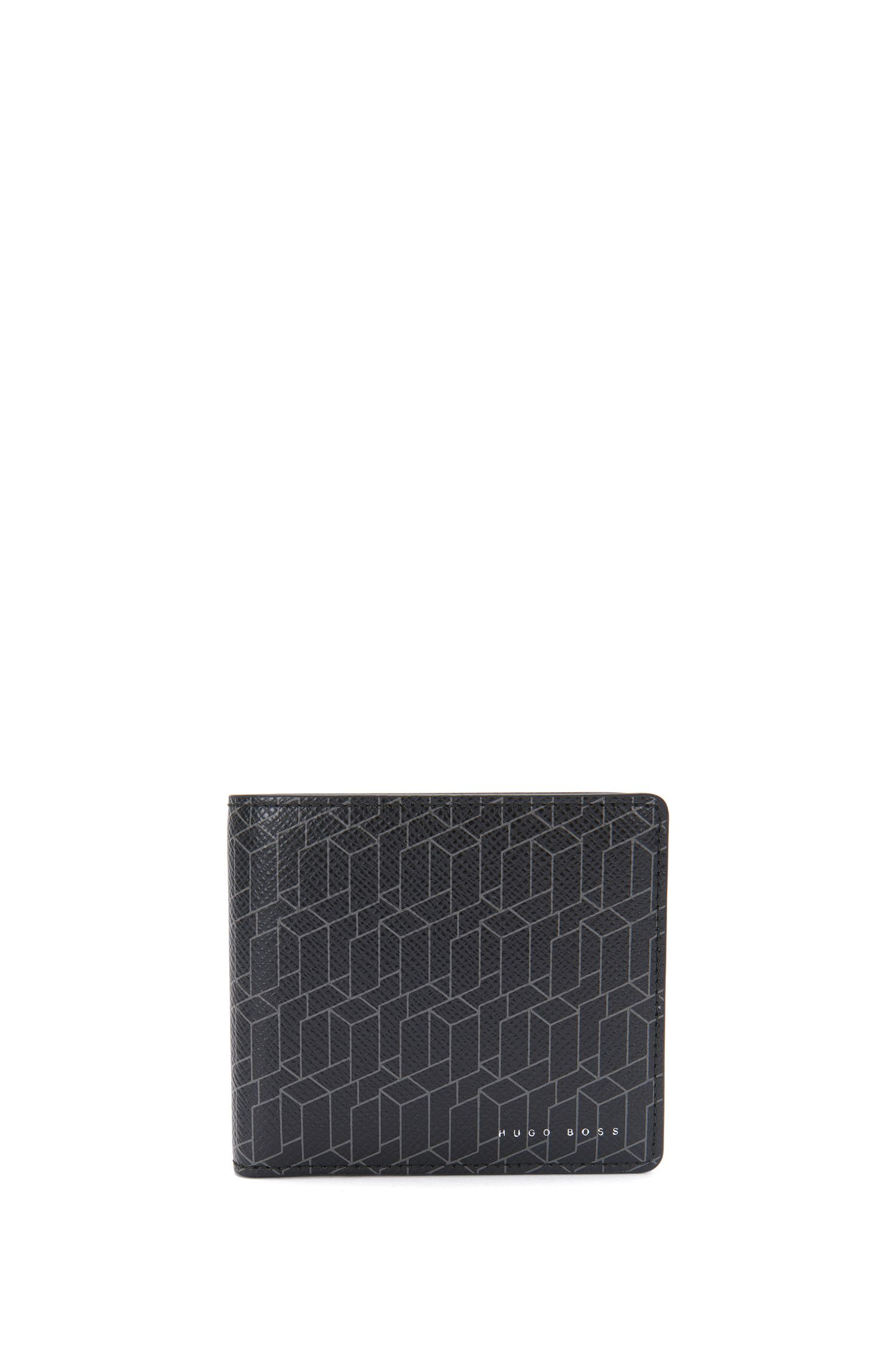 Wallet in leather with graphic print and coin compartment: 'Signature H_4cc coin'