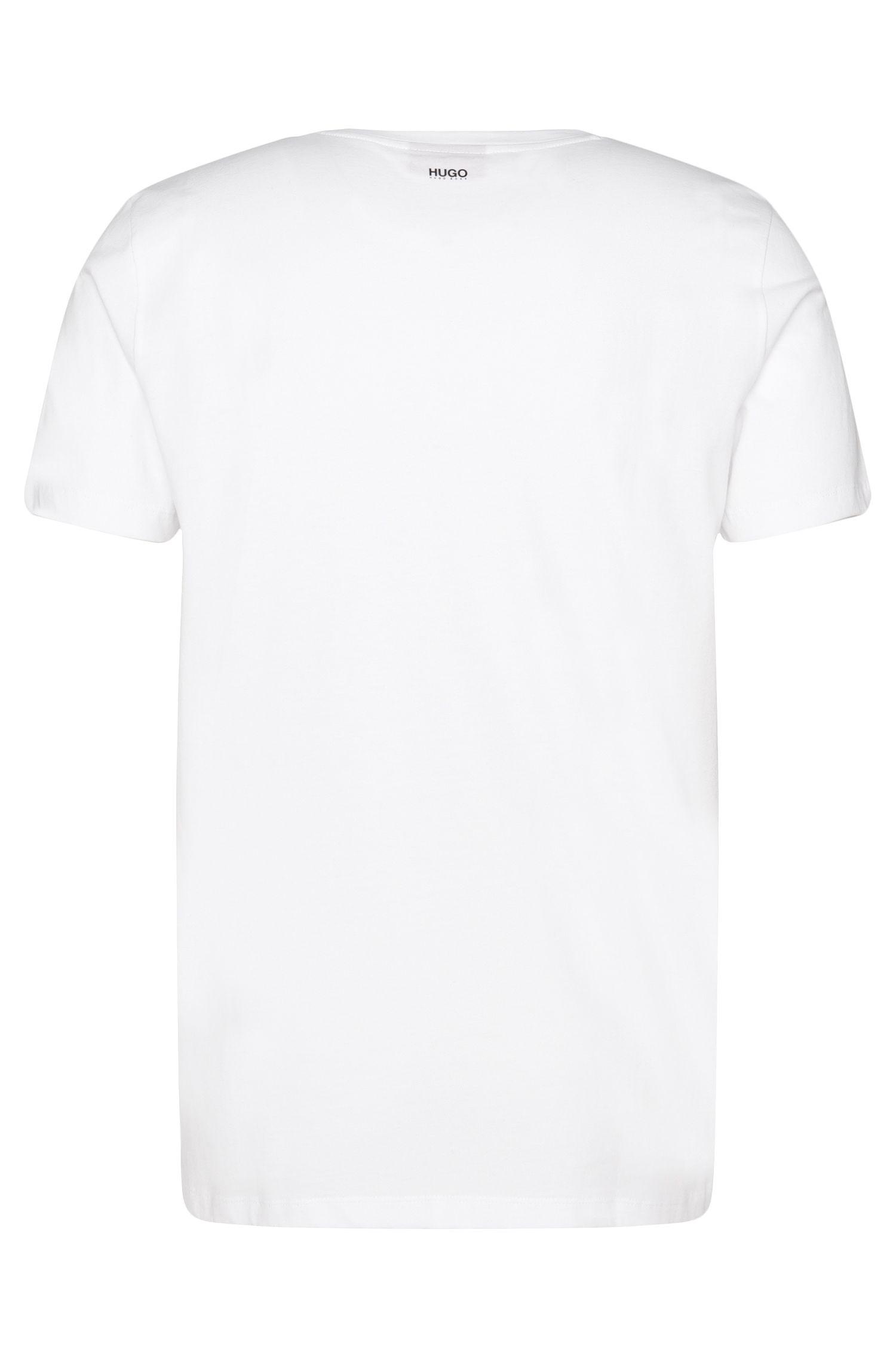 Loose-Fit T-Shirt aus Baumwolle mit gummiertem Print: 'Dorved'