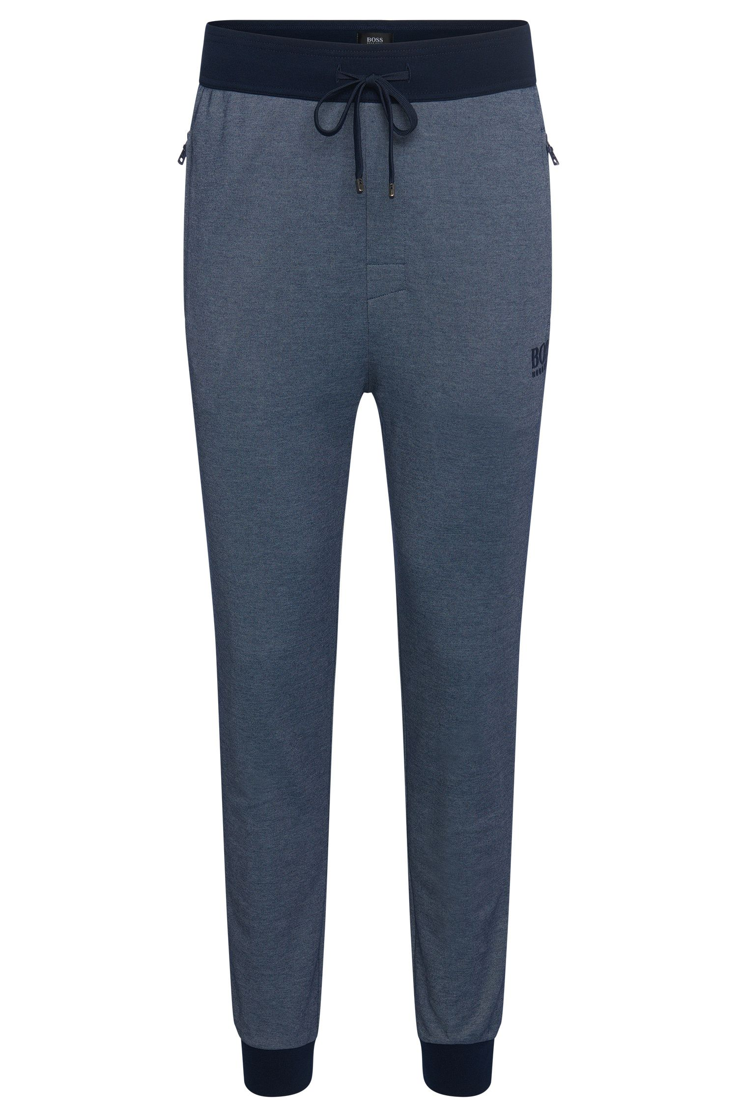 Tracksuit bottoms in cotton blend with contrasting colour hems: 'Long Pant Cuffs'