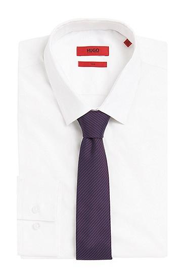 Fein gestreifte Krawatte aus Seide: 'Tie cm 6', Lila
